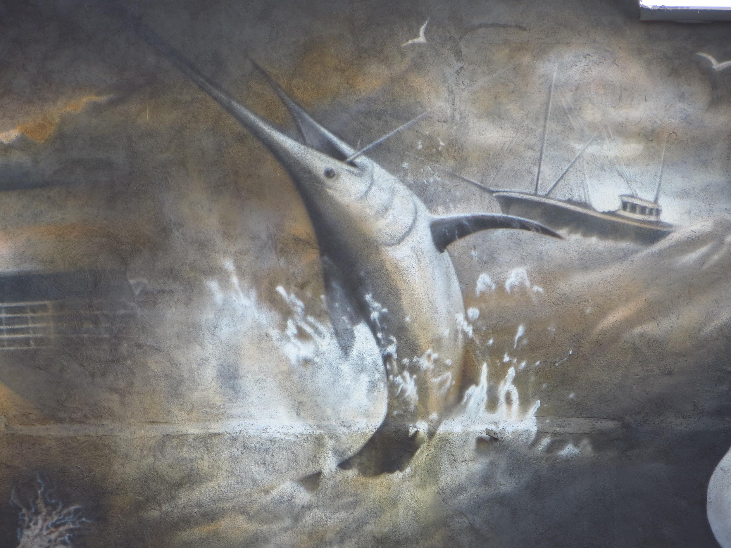 Massive marlin mural