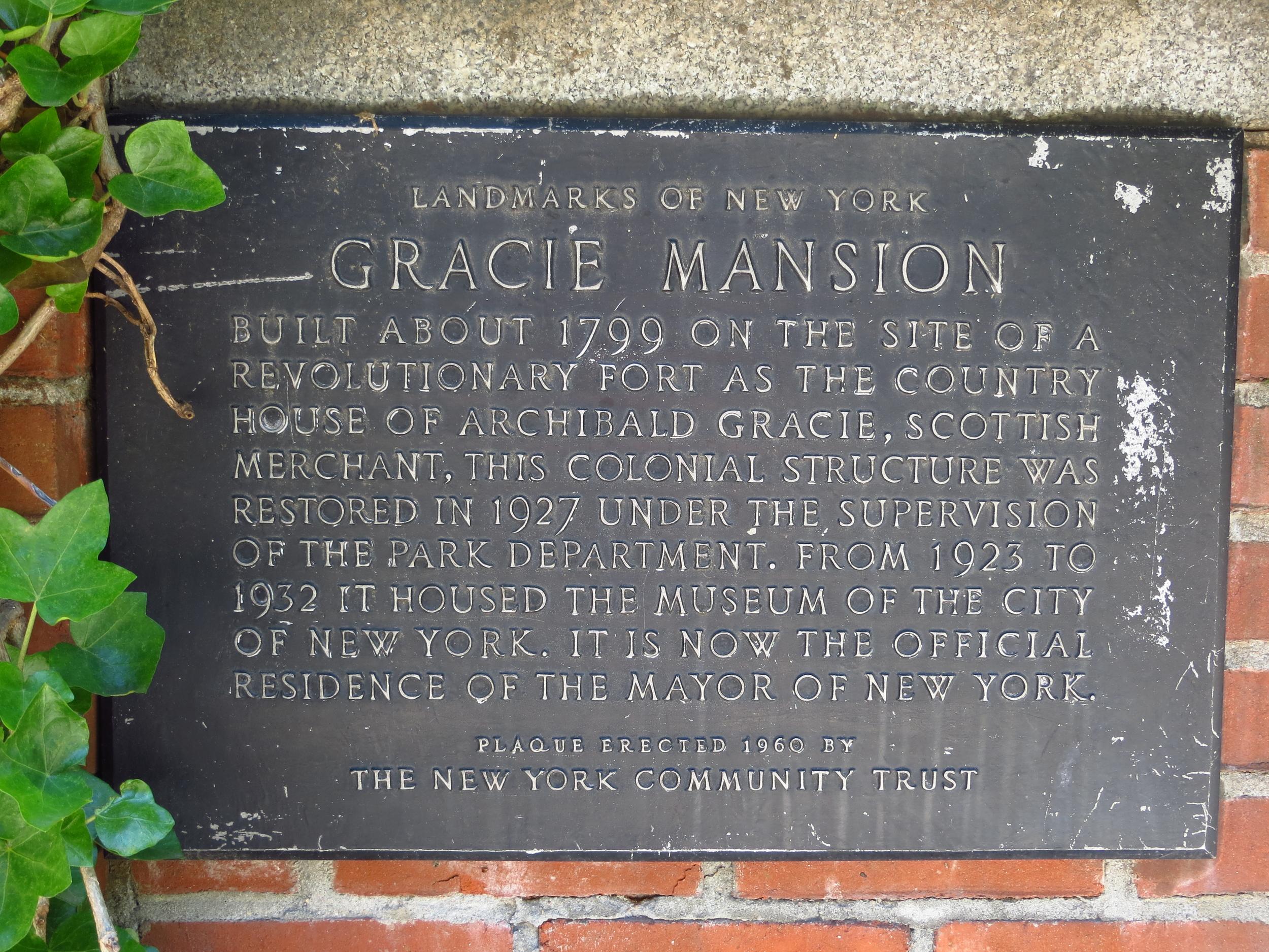 Gracie Mansion History