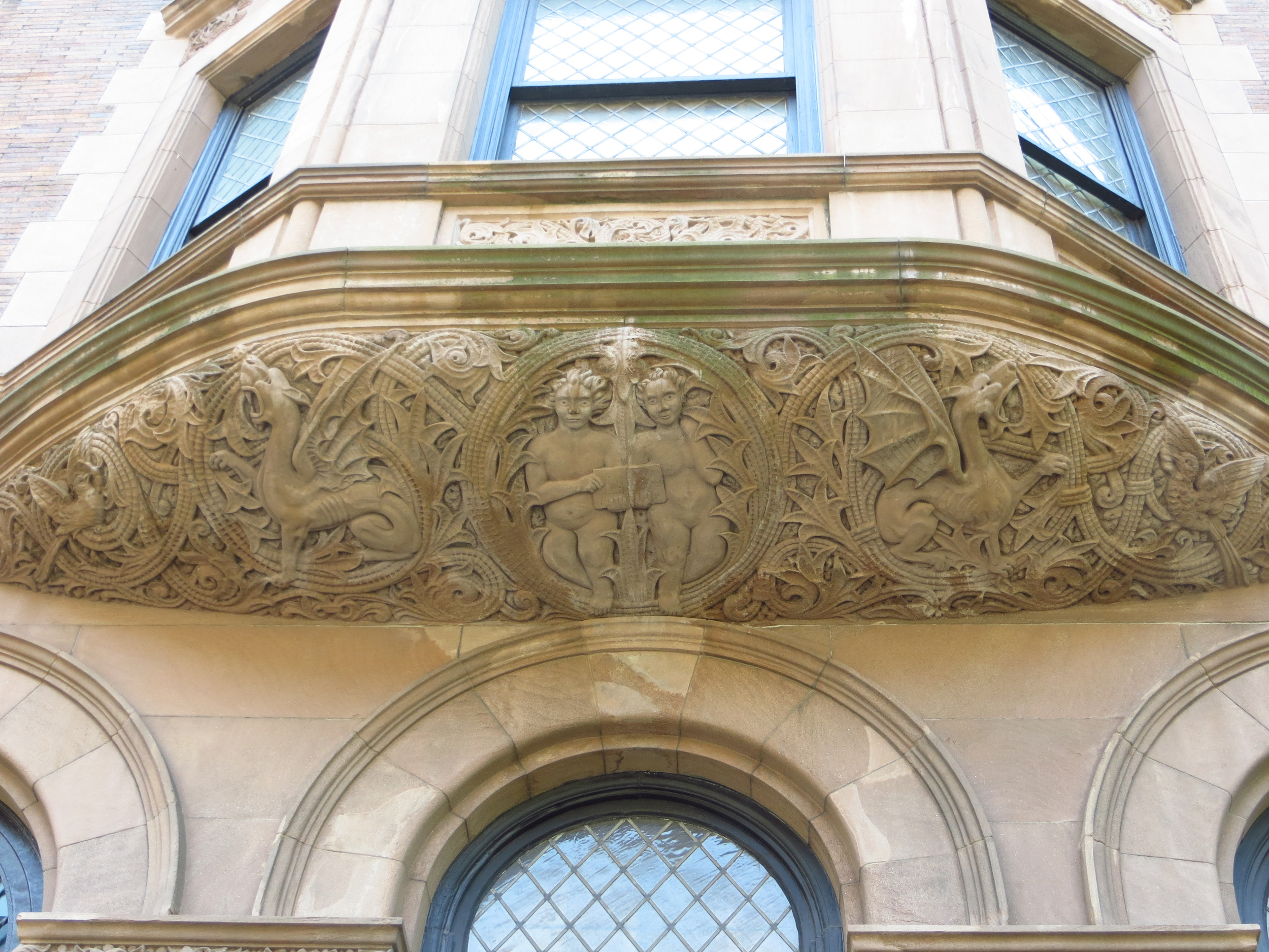Elaborate under-window frieze