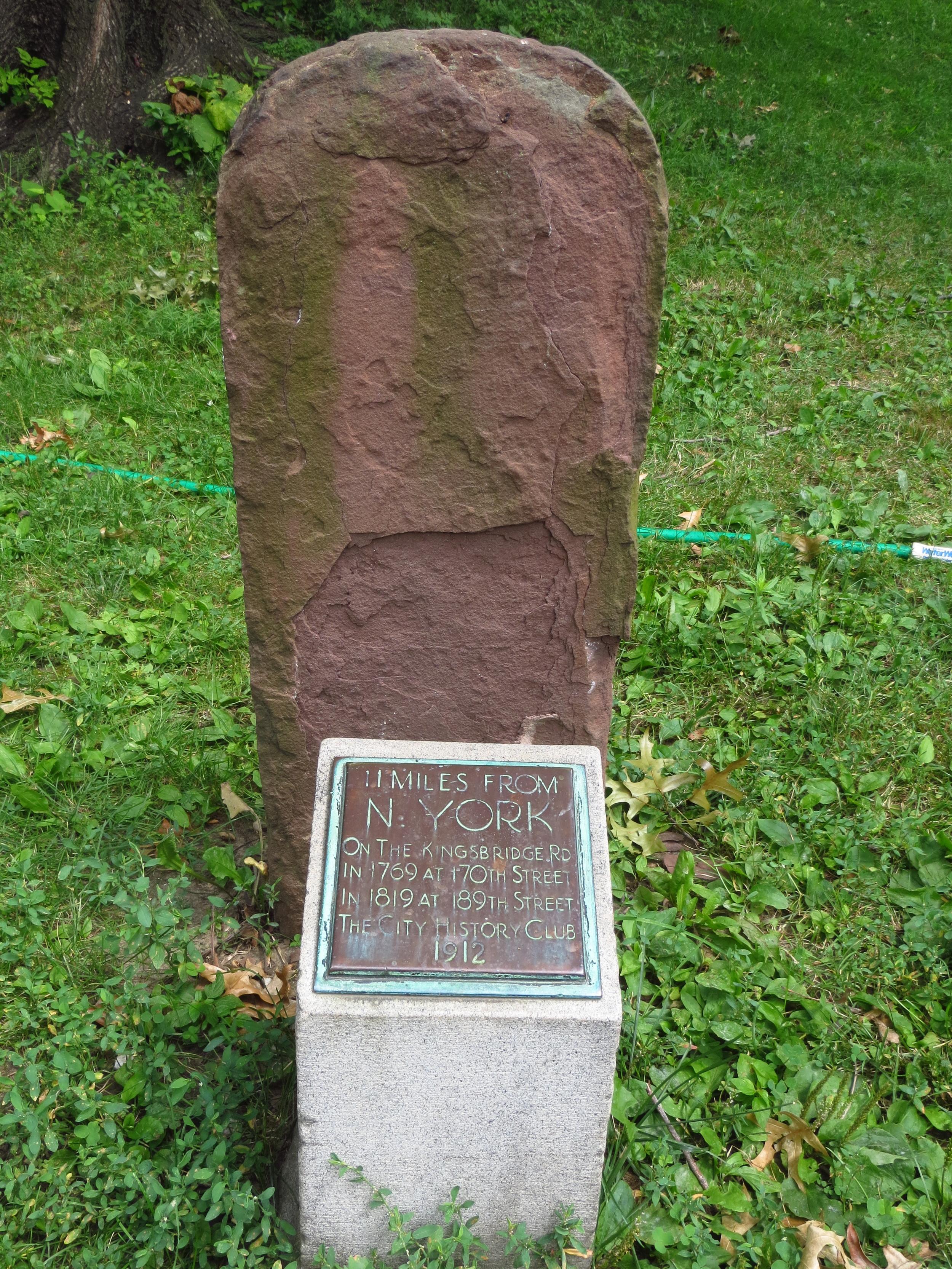 Old mile marker