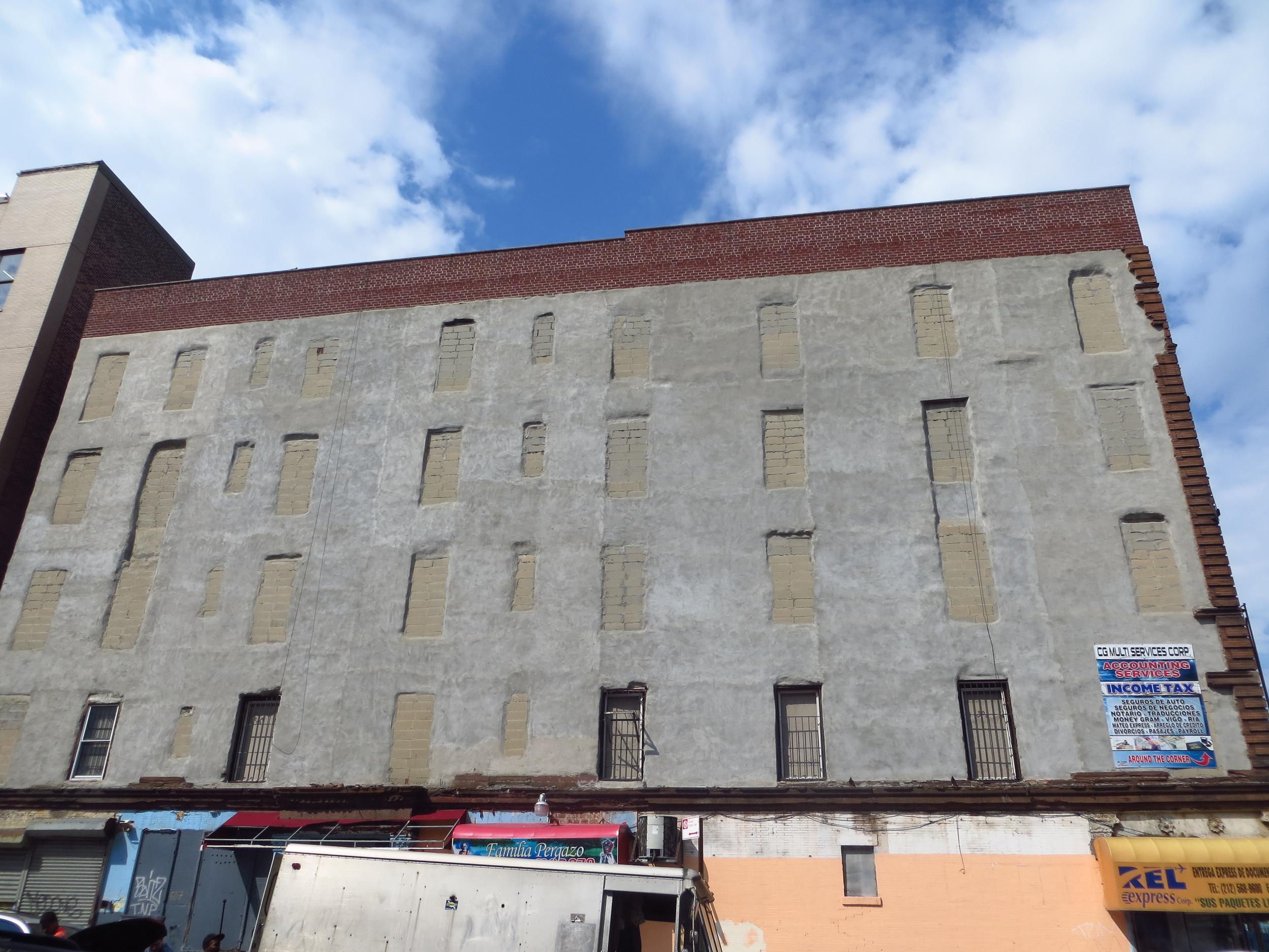 Cinderblocked windows