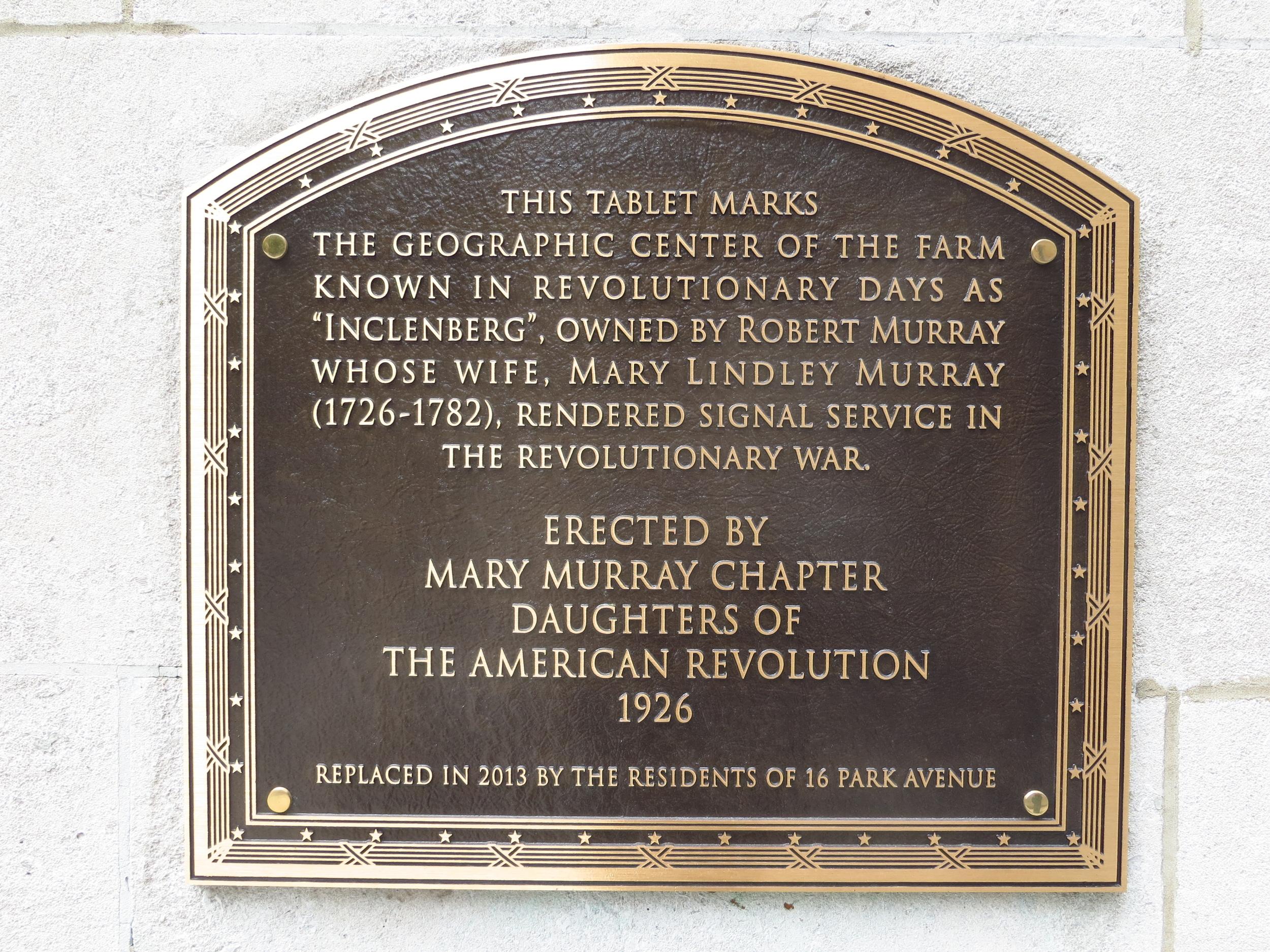 Murray Hill namesake