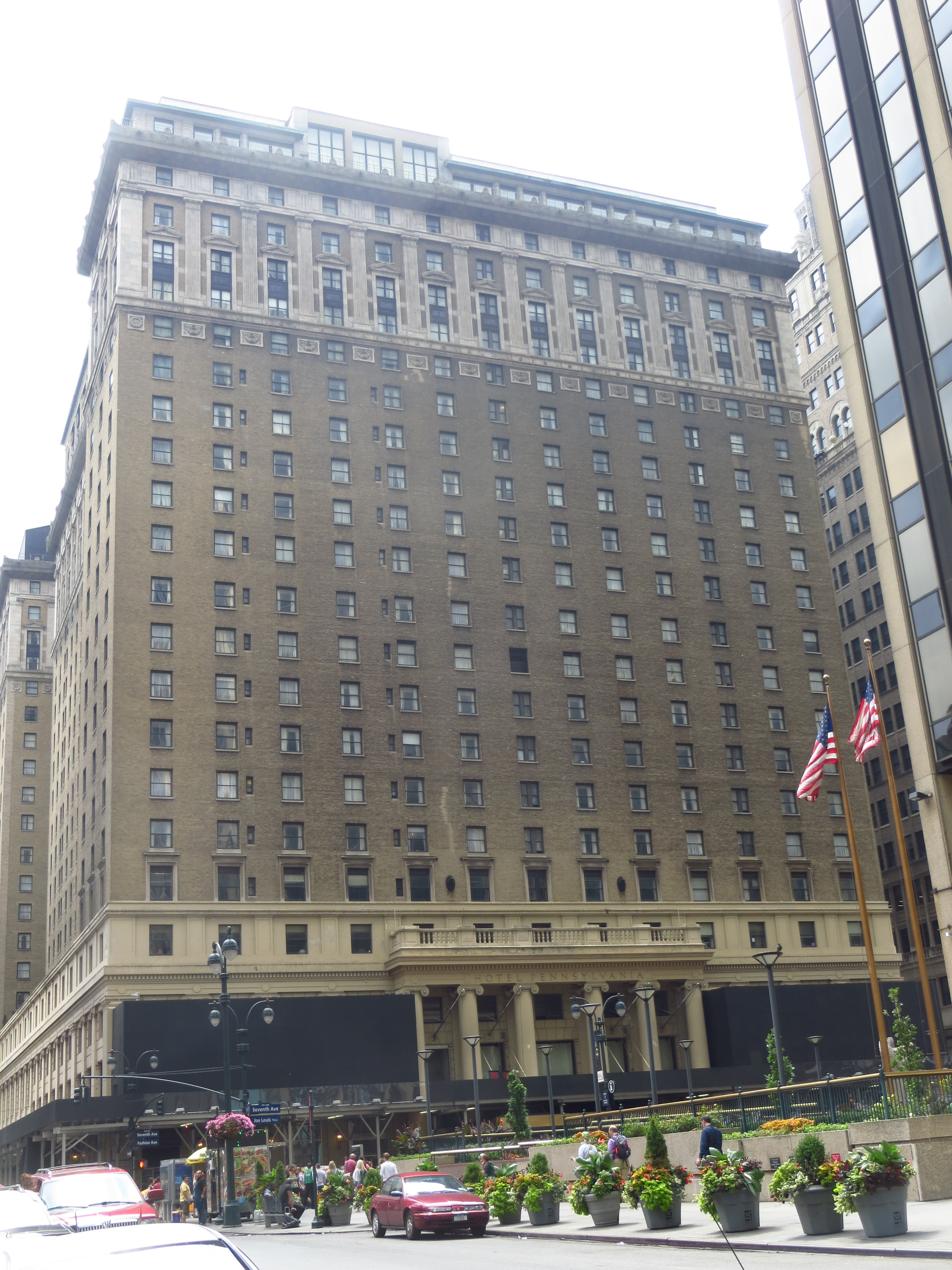 """Hotel Pennsylvania (NY's oldest phone # and the source of the swing standard """"Pennsylvania 6-5000"""")"""