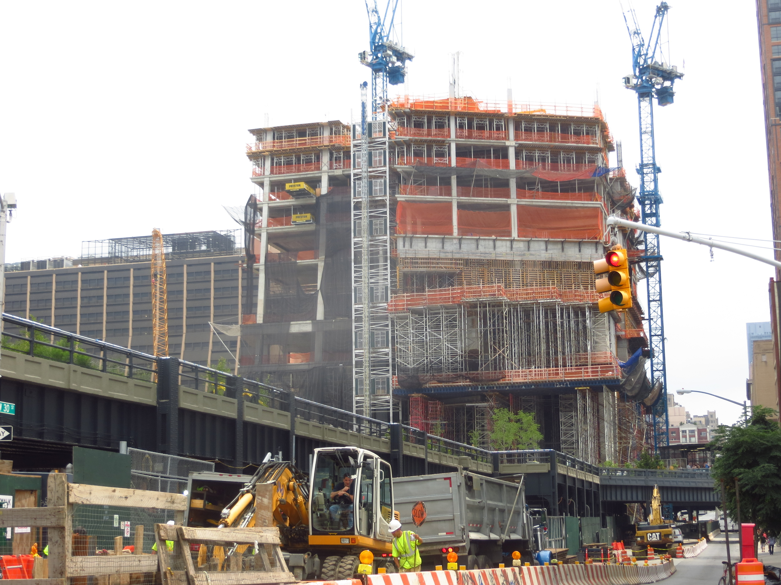 New Highline Park section under construction
