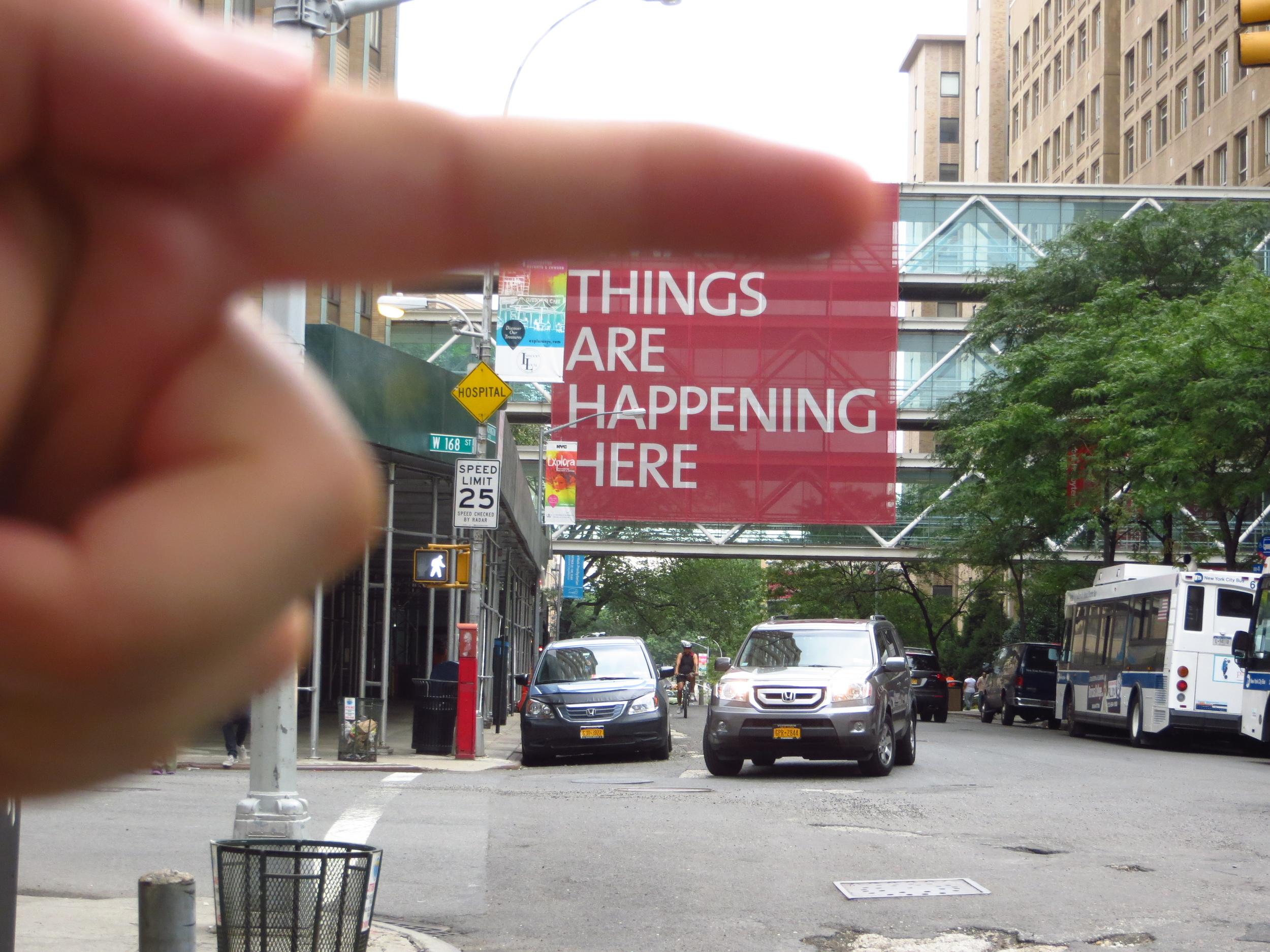 Columbia/NY Presbyterian Hospital skyways (don't know how that stranger's finger got in the shot)