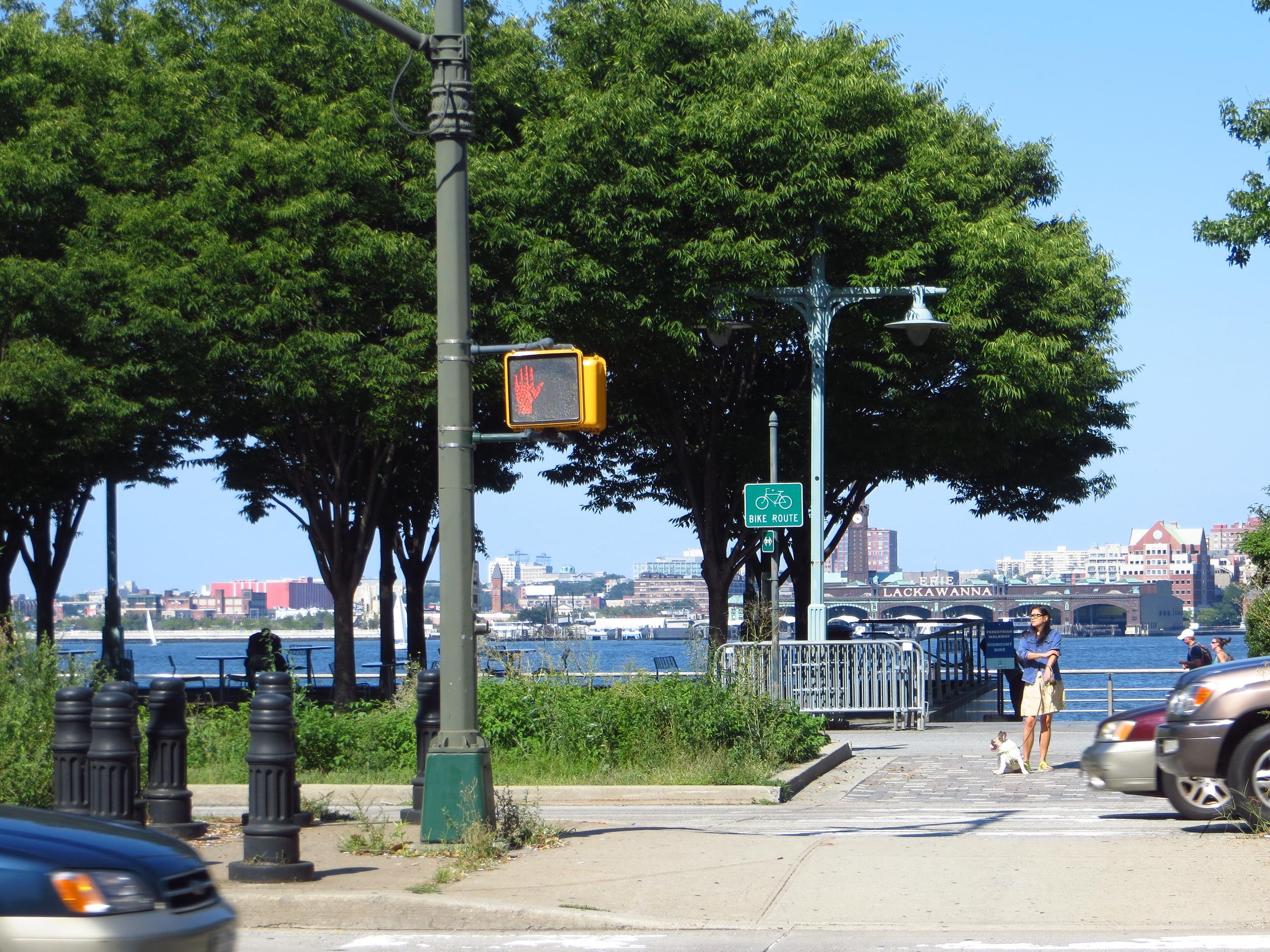 View of Hoboken from Hudson River Park