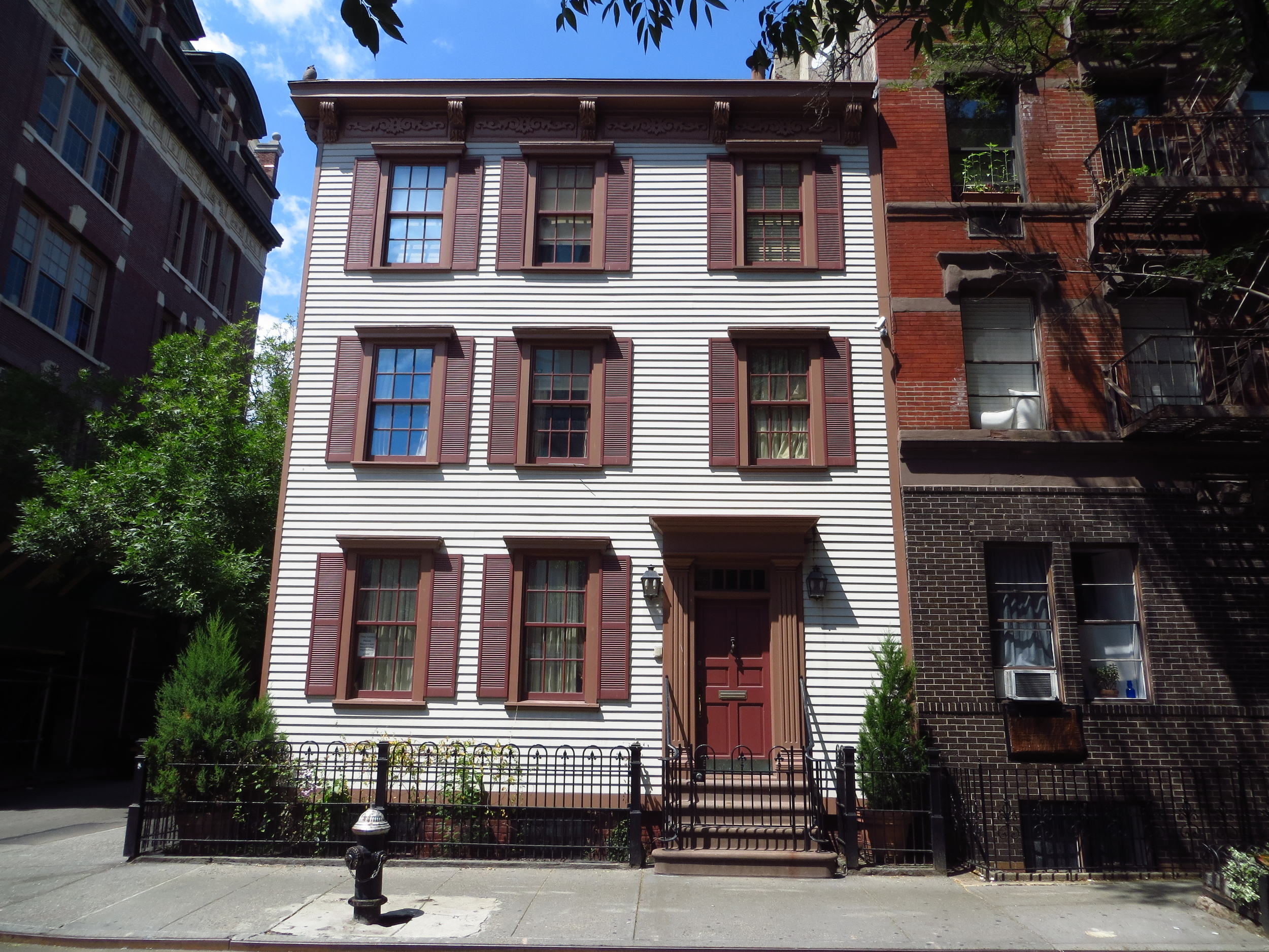 """This is the cool old house (b. 1822) across the street from the apartment building used as the establishing shot in """"Friends"""" episodes"""