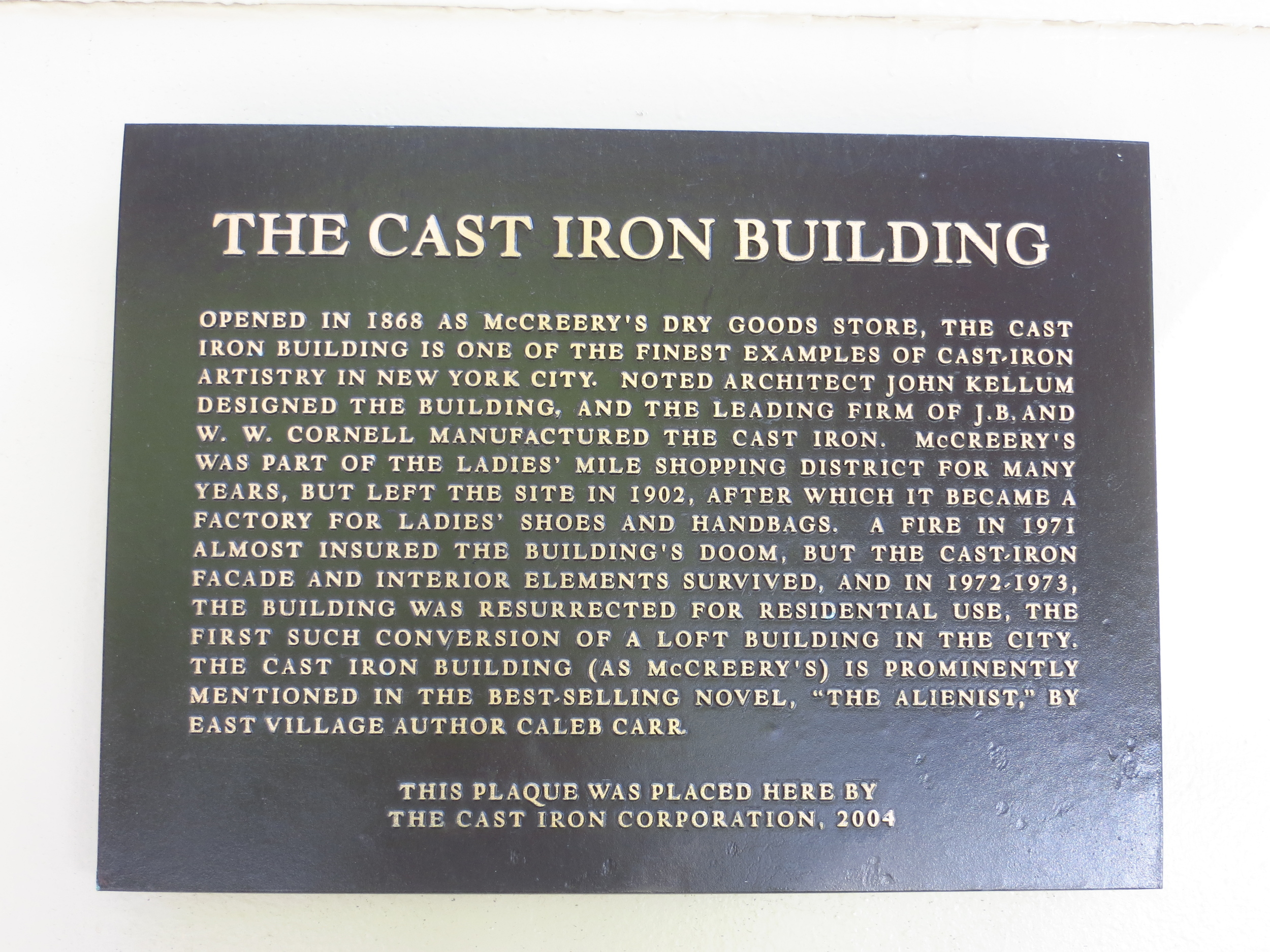 Cast Iron Building history