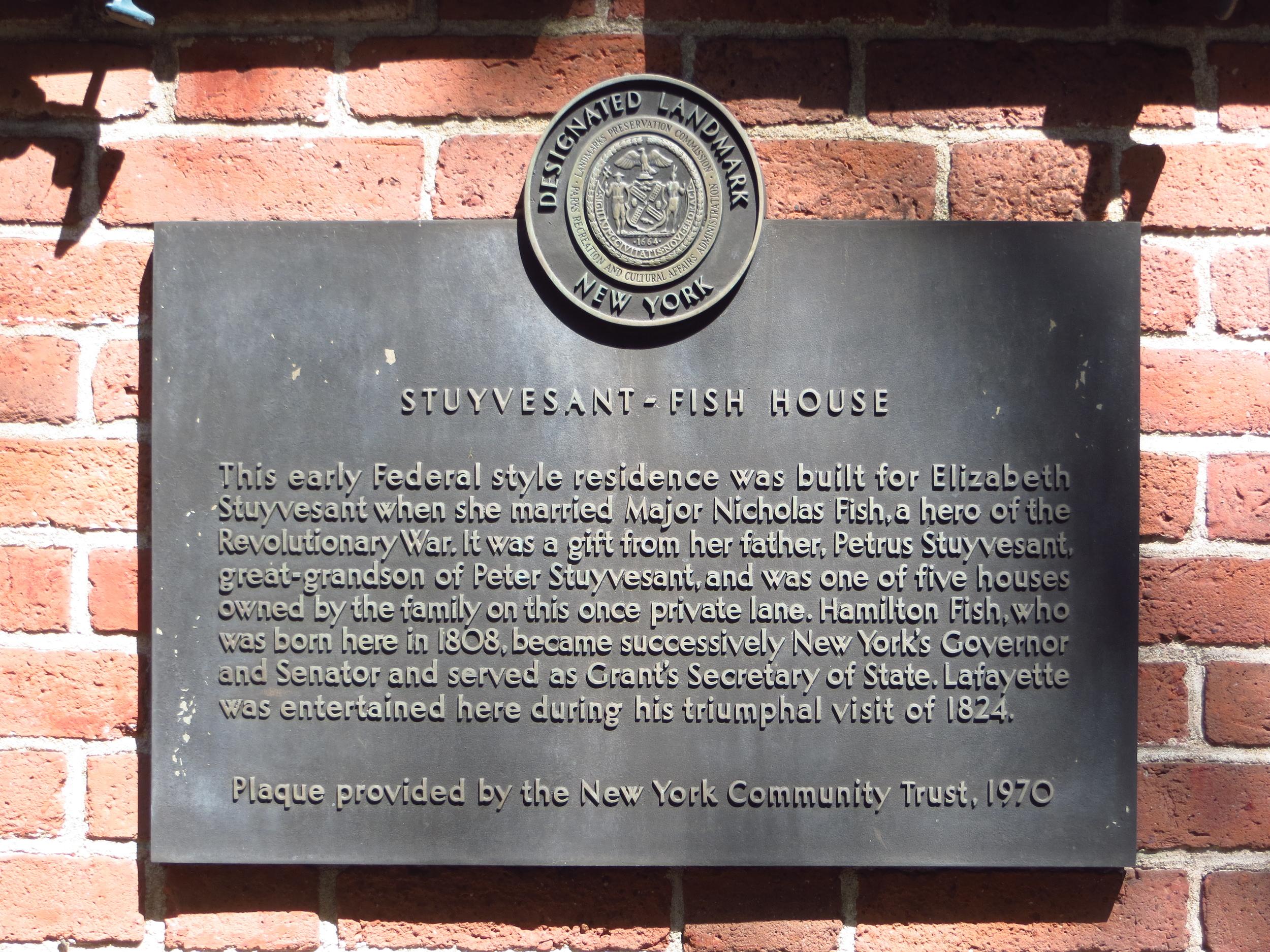 Stuyvesant-Fish House history