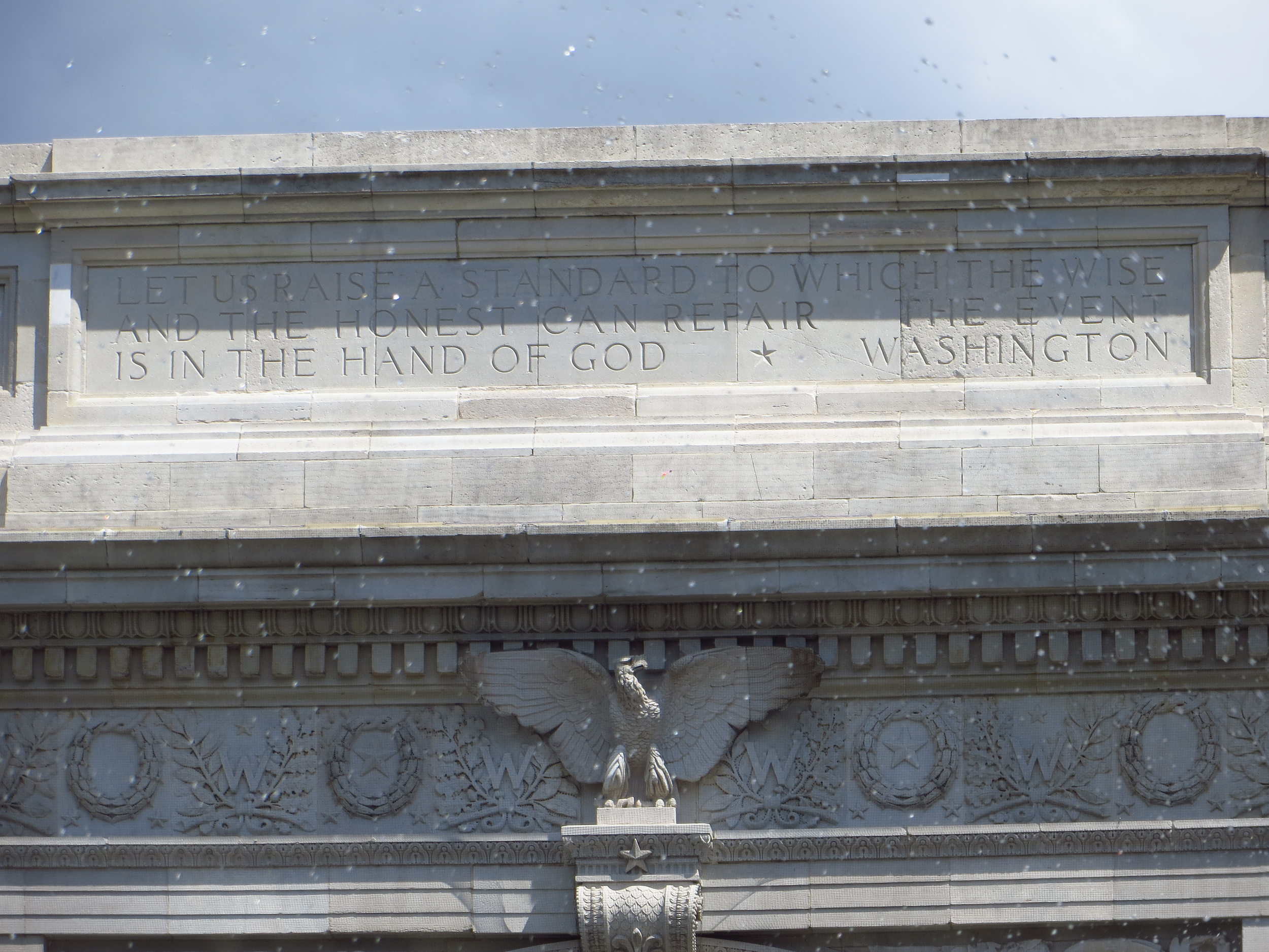 Let us raise a standard to which the wise and the honest can repair.  The event is in the hand of God.  - Washington