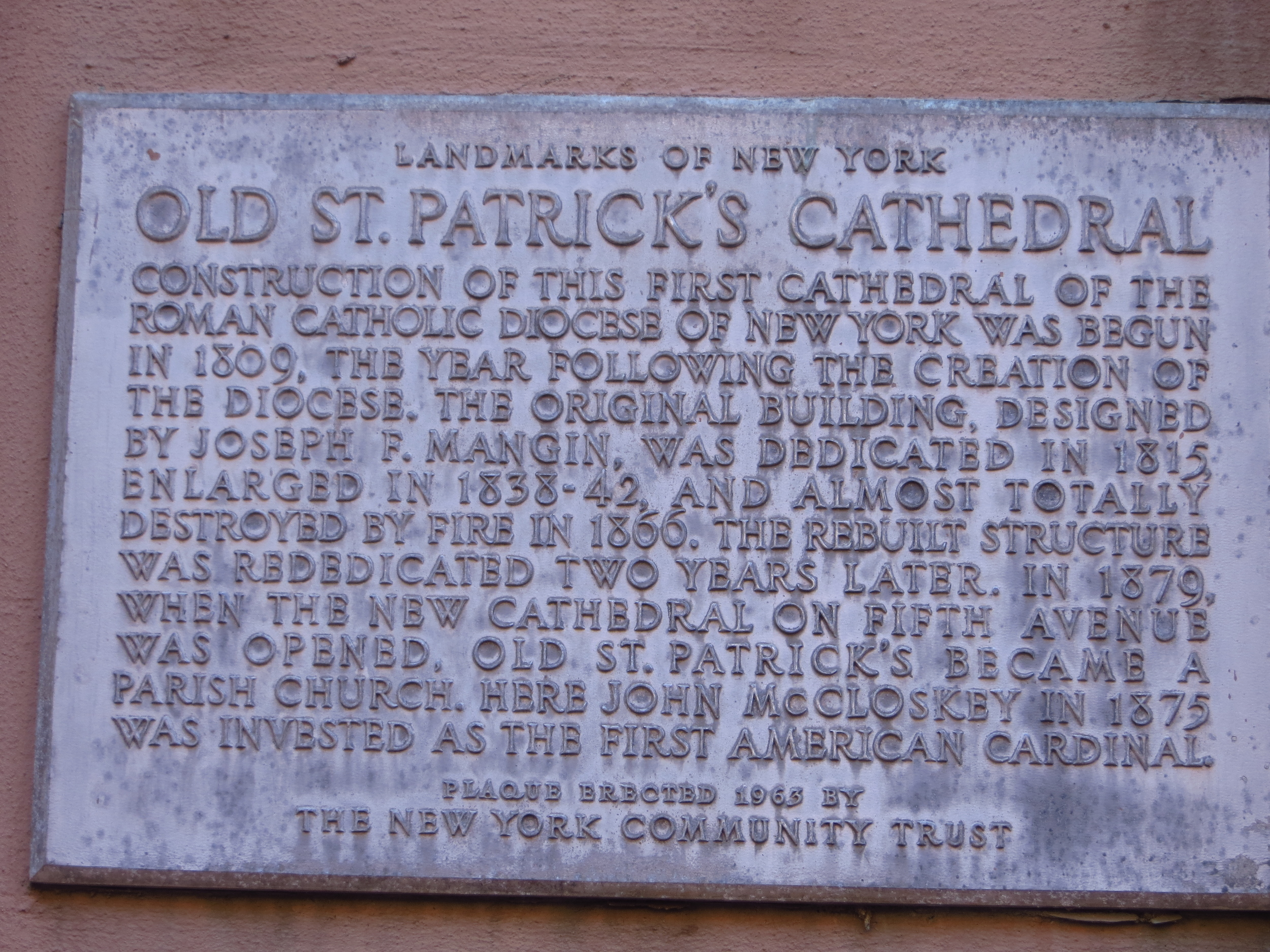 Old St. Patrick's Cathedral history