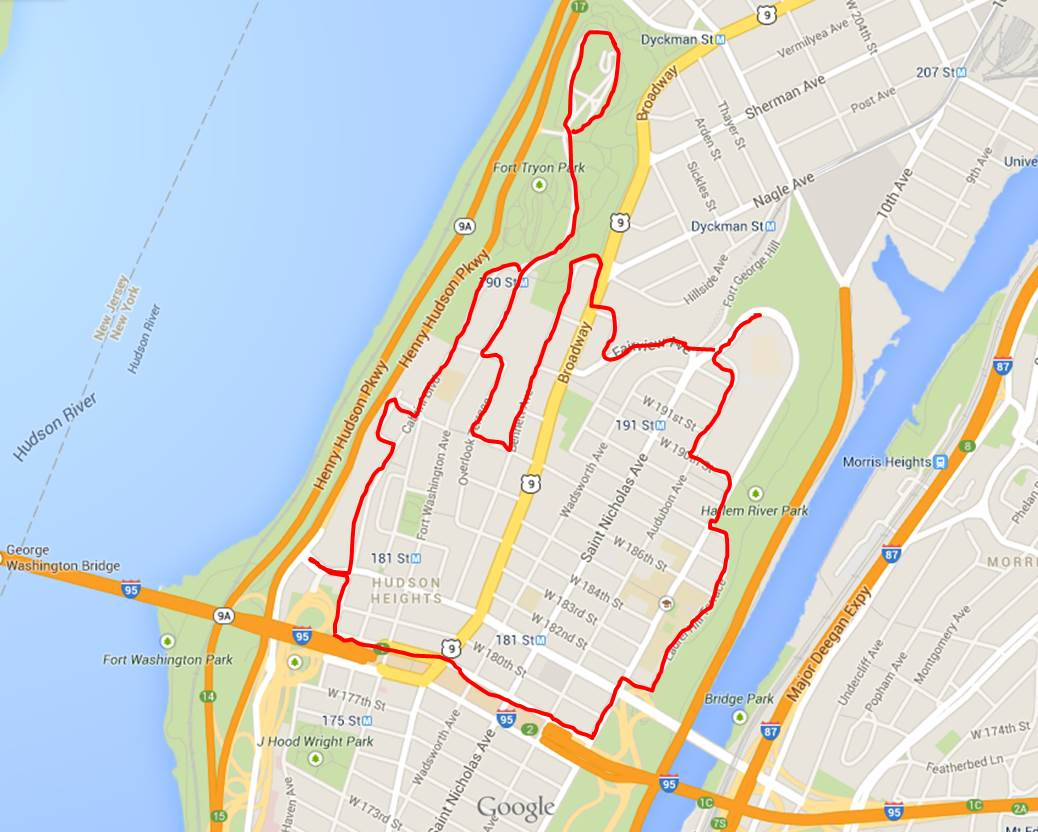 Today's Walk (everything inside the lines)