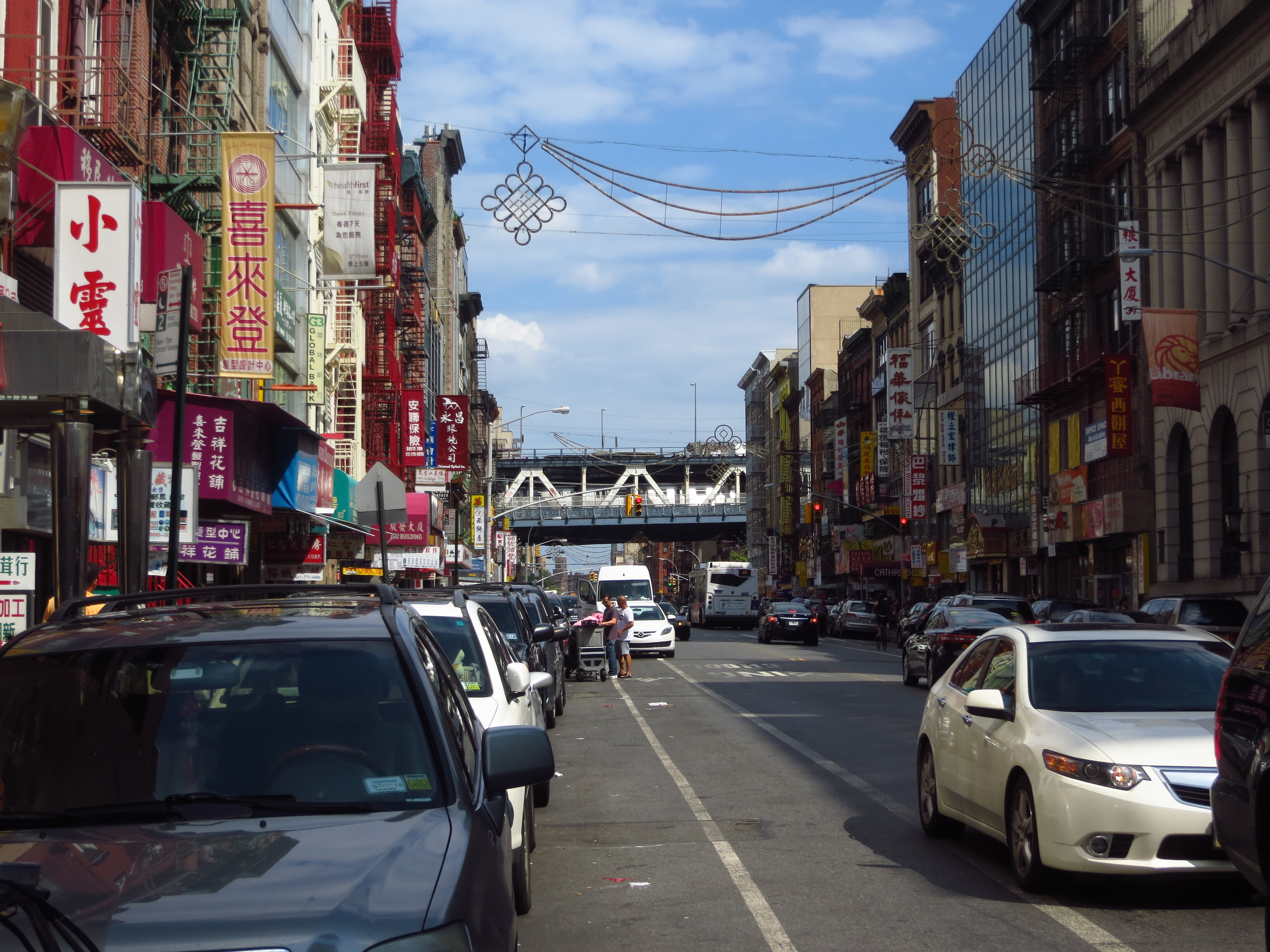 View down East Broadway