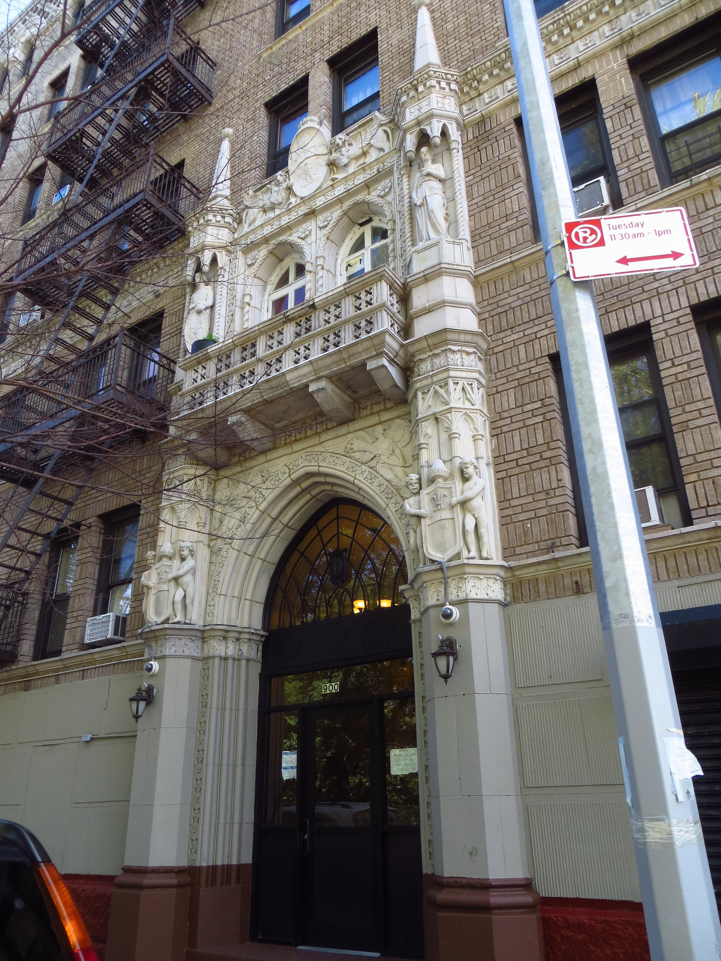 Ornate entrance facade