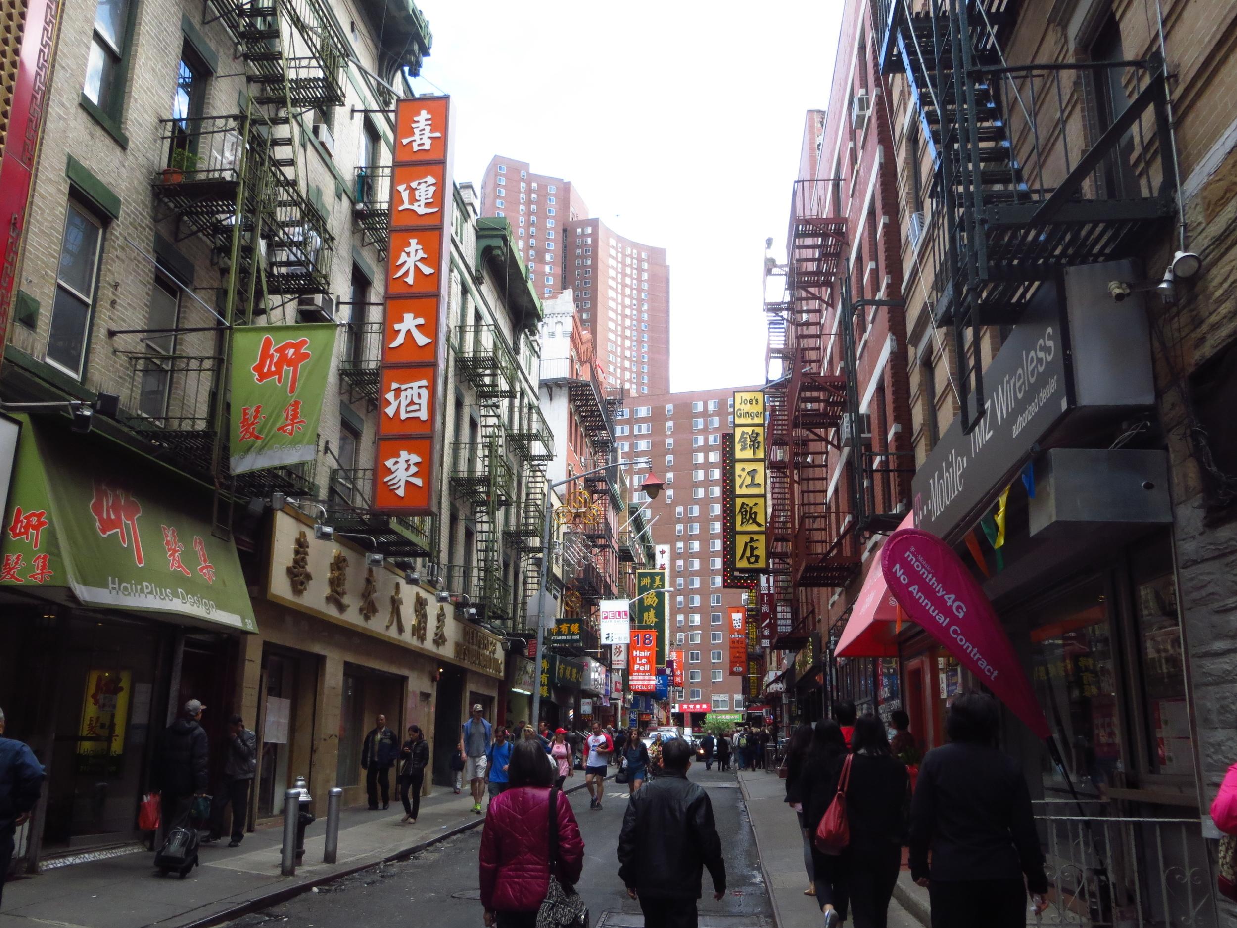 Mott St. in Chinatown