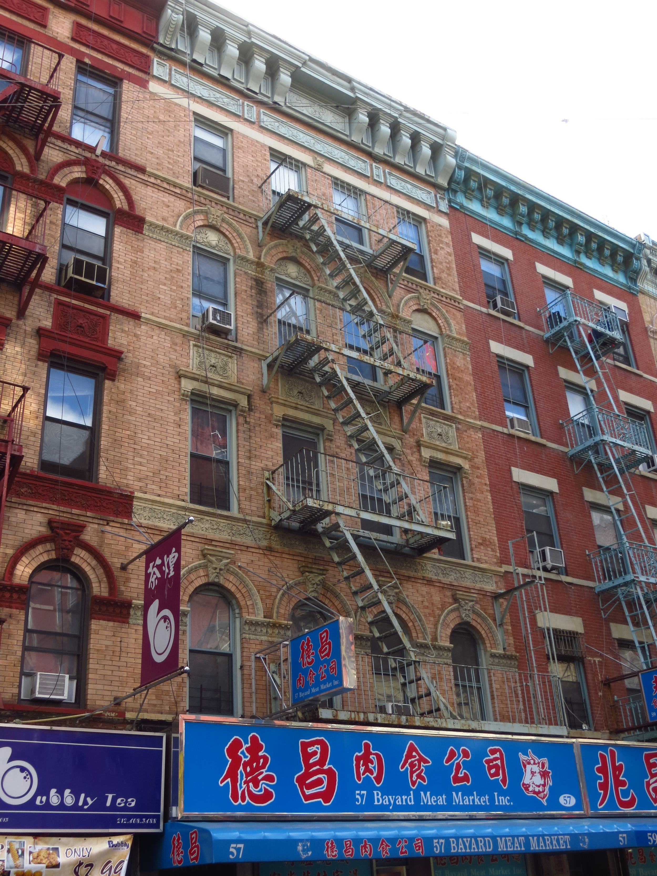 Old tenement building with cool details