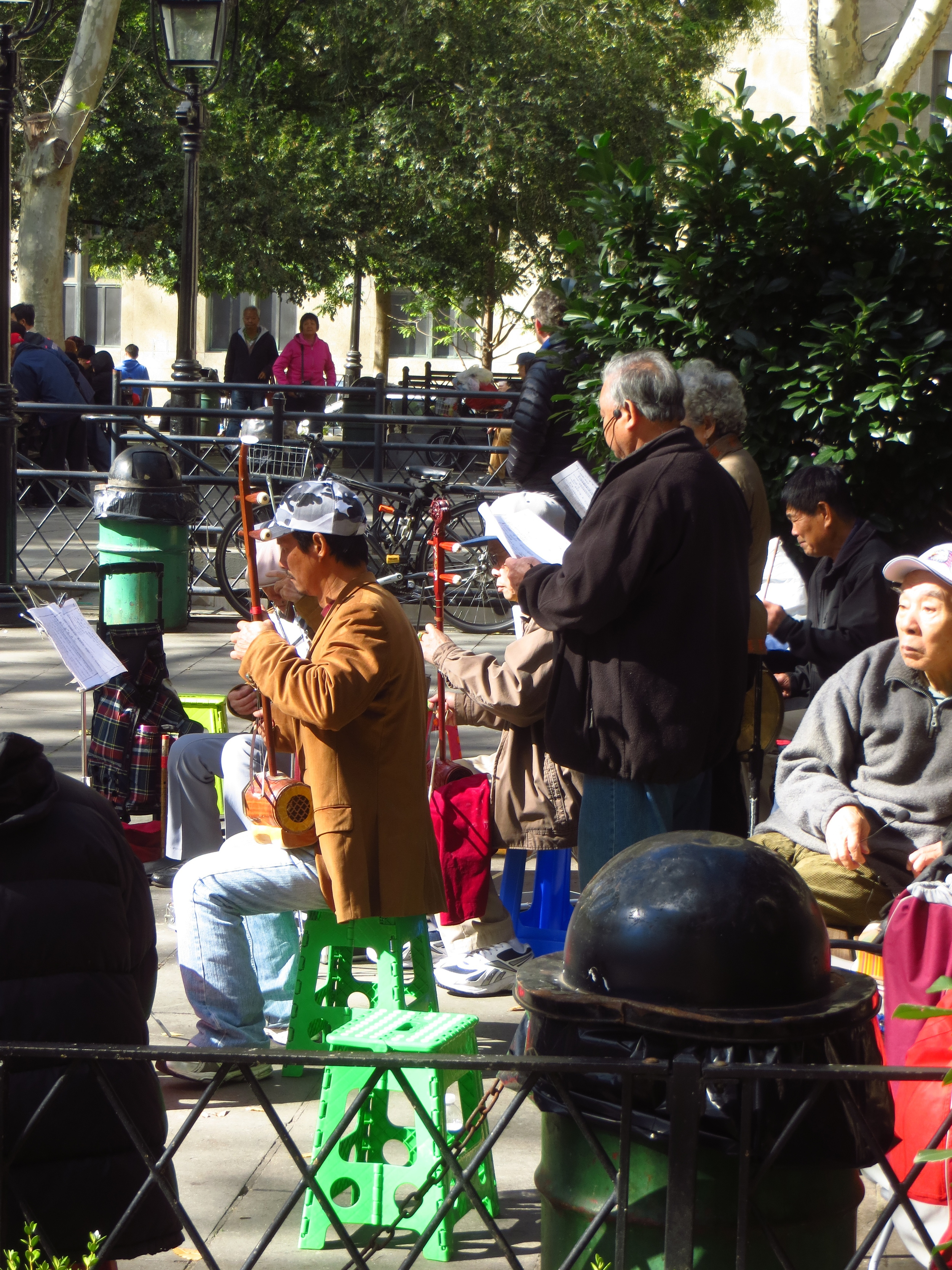 Traditional Chinese music ensemble (one of many in the park that day)