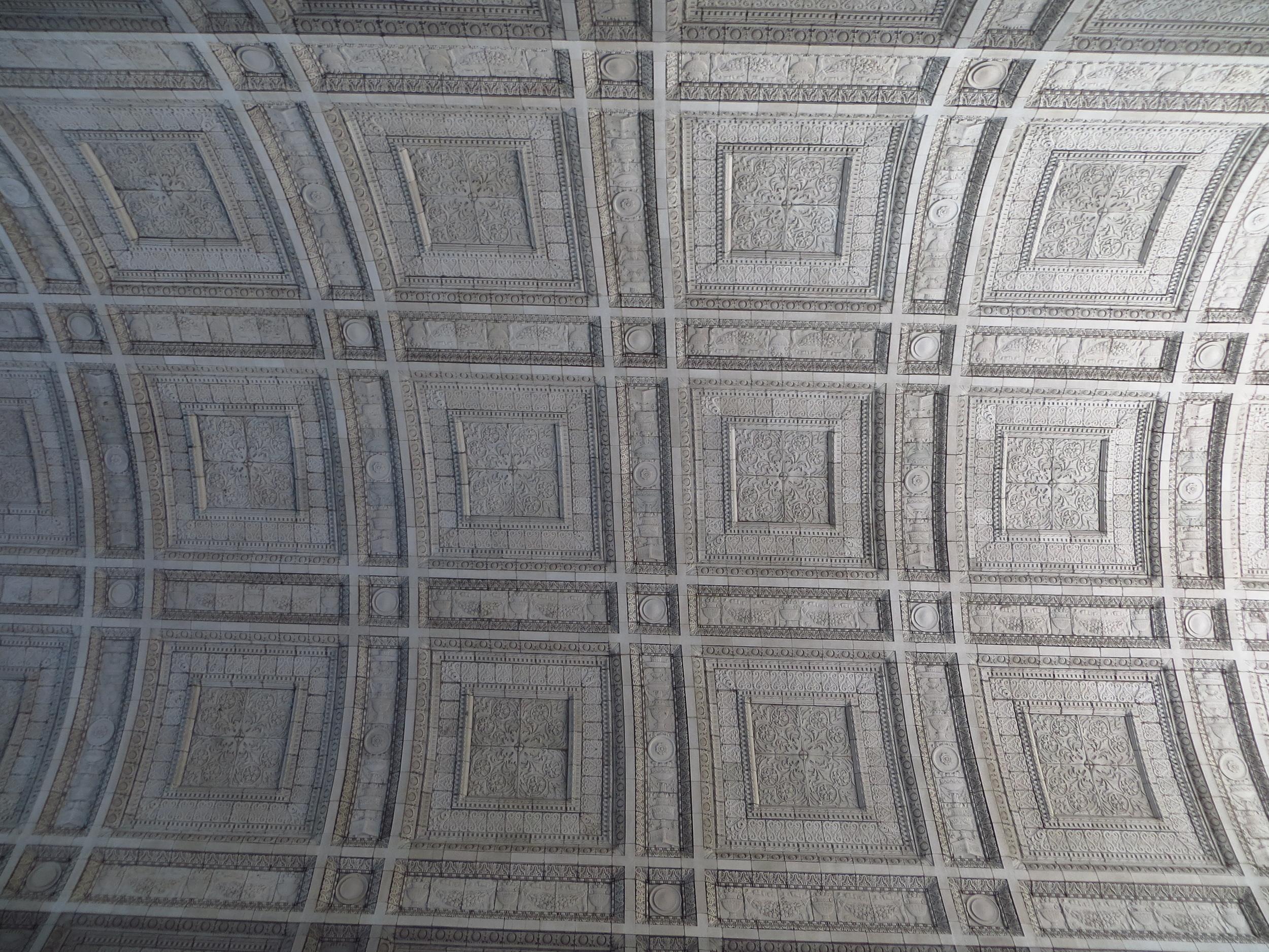 Manhattan Municipal Building breezeway ceiling