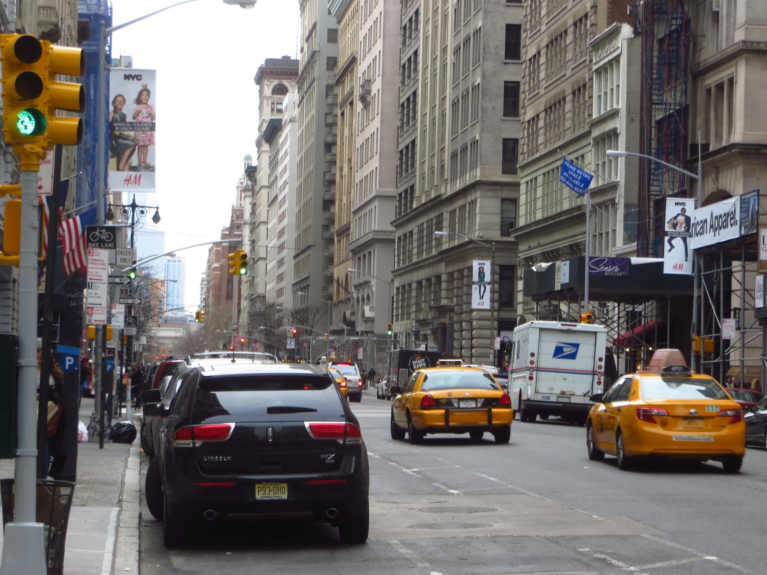 View down 5th Avenue