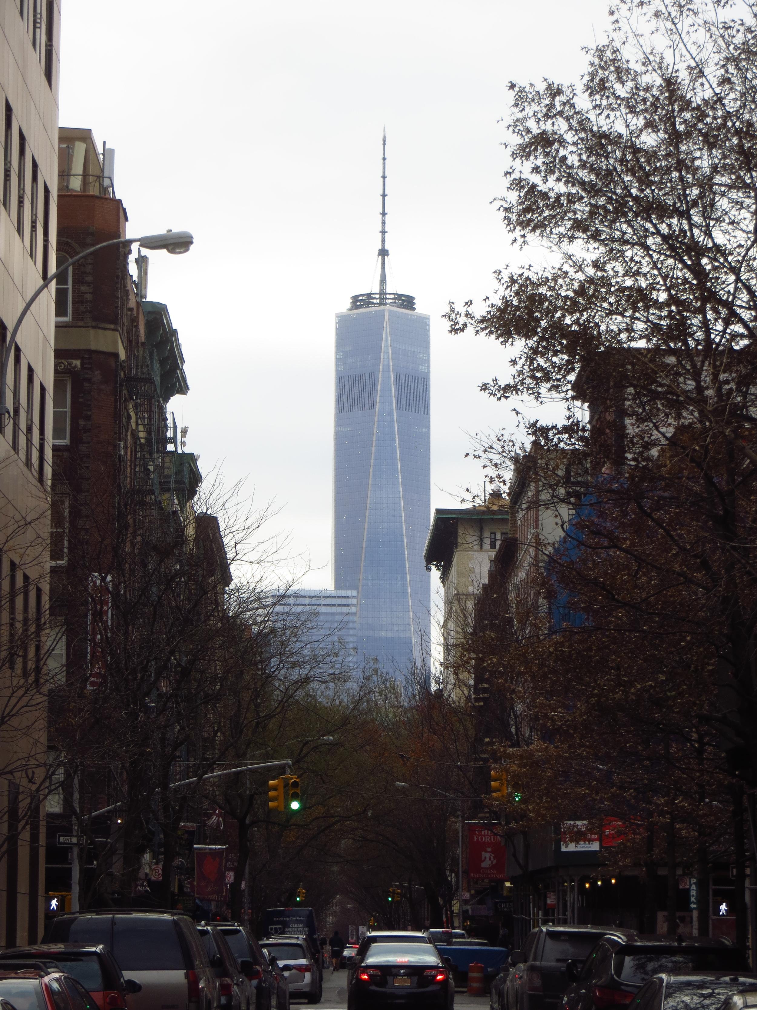 WTC 1 down Thompson St.