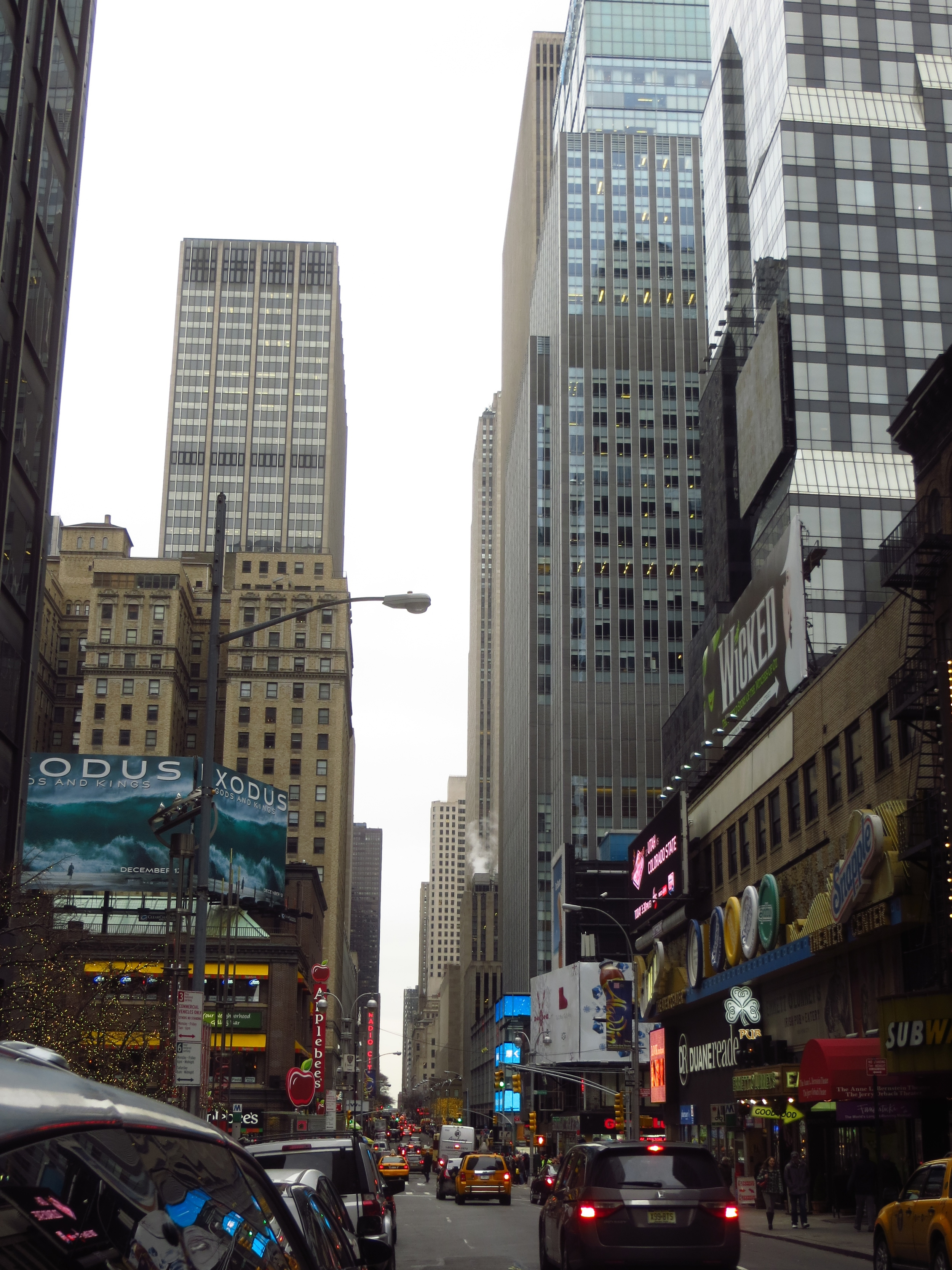 View down 50th St. in Midtown