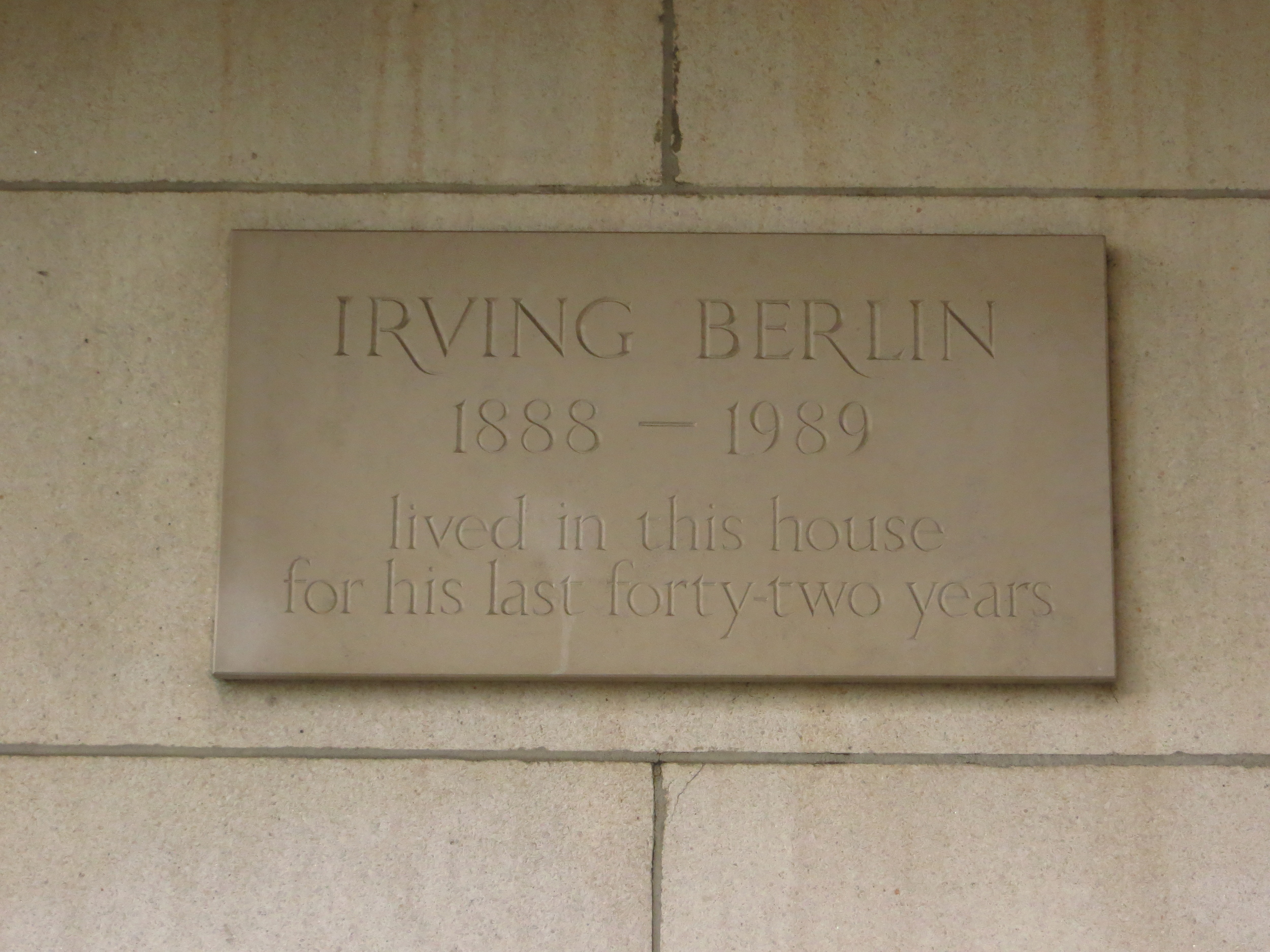 """It was the home of Irving Berlin (who wrote """"White Christmas"""")"""