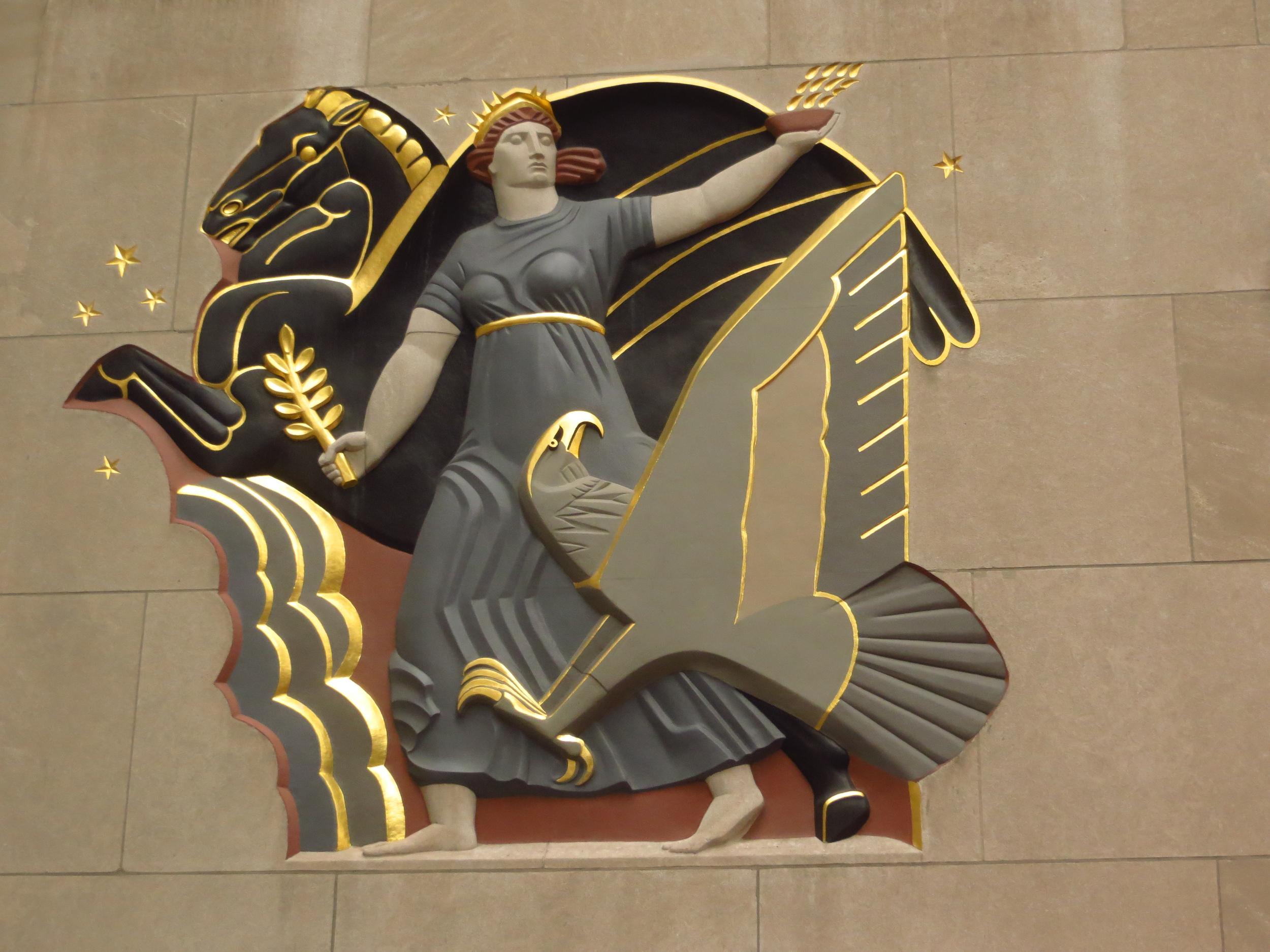 Rockefeller Center bas relief