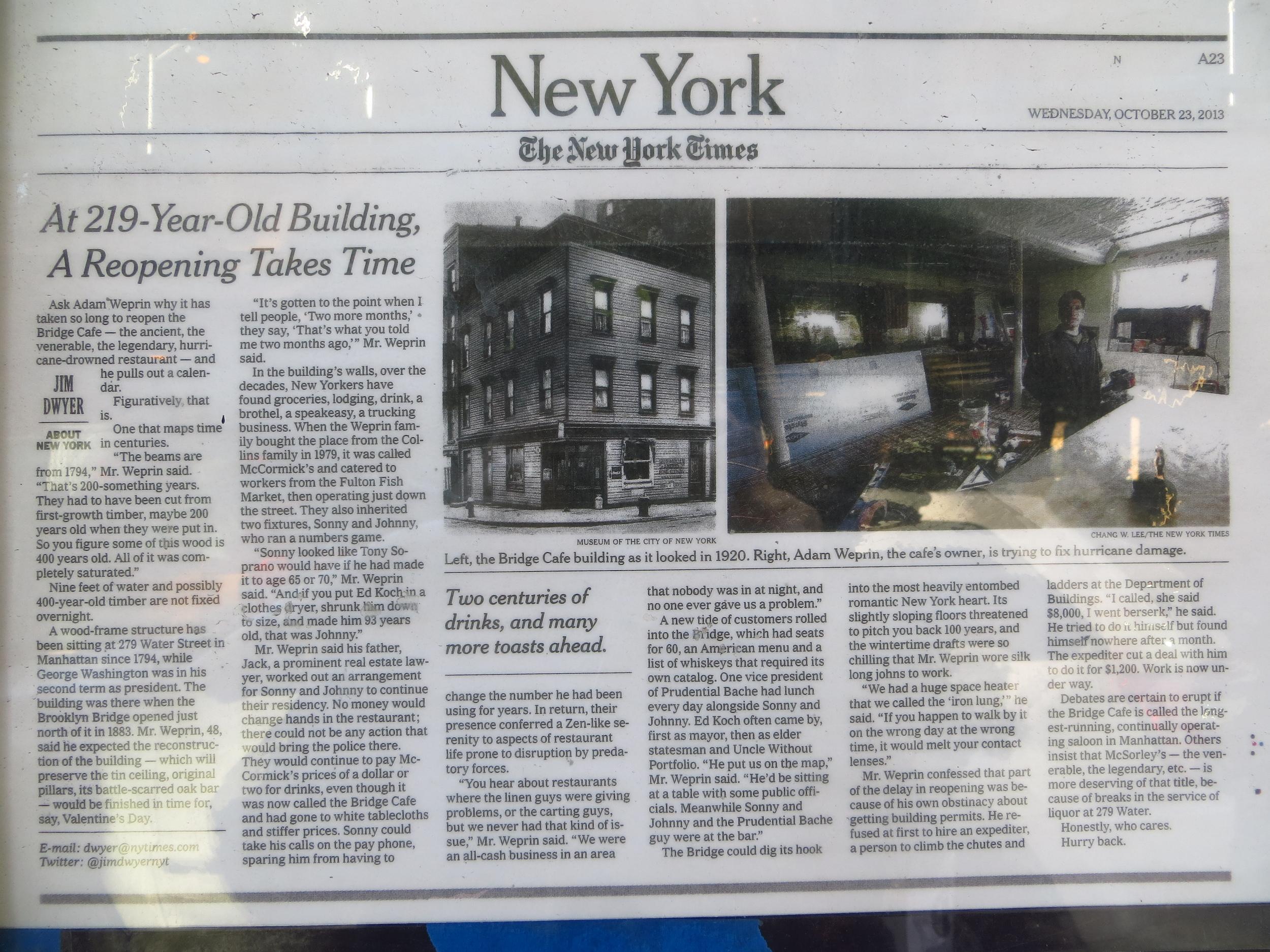 Bridge Cafe Article