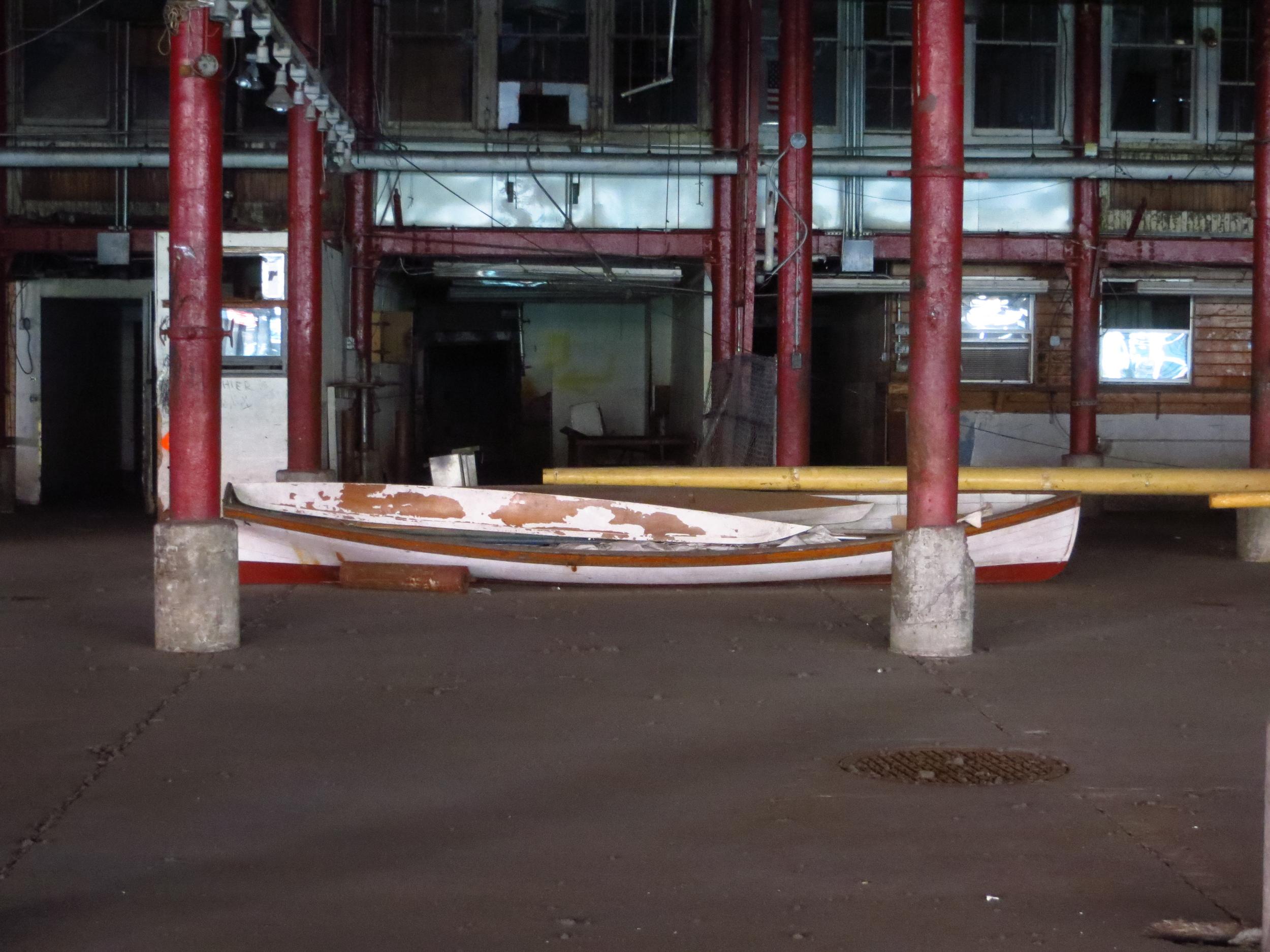 Boat in old fish market