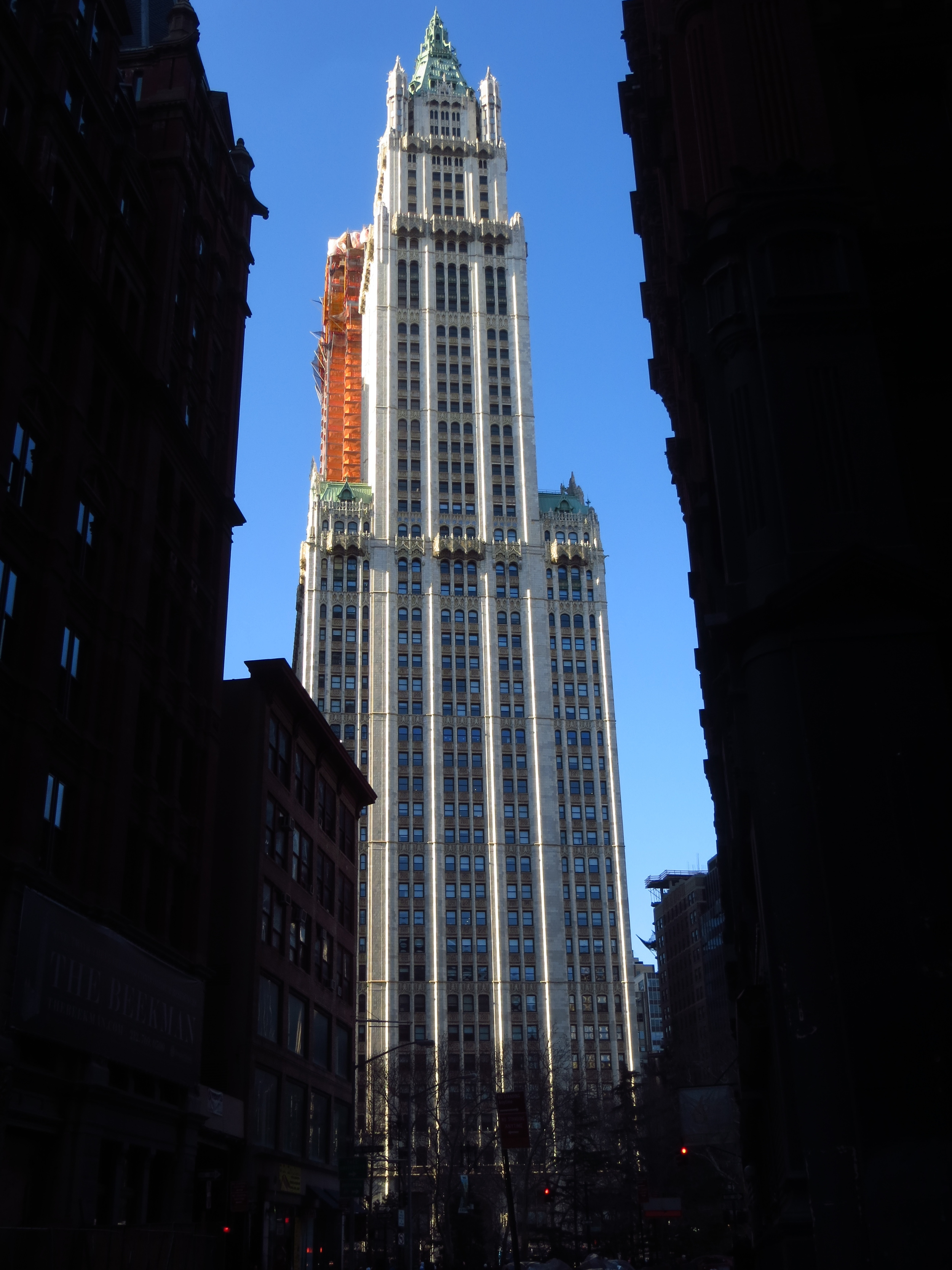 Woolworth Building; World's tallest building from 1913 - 1930