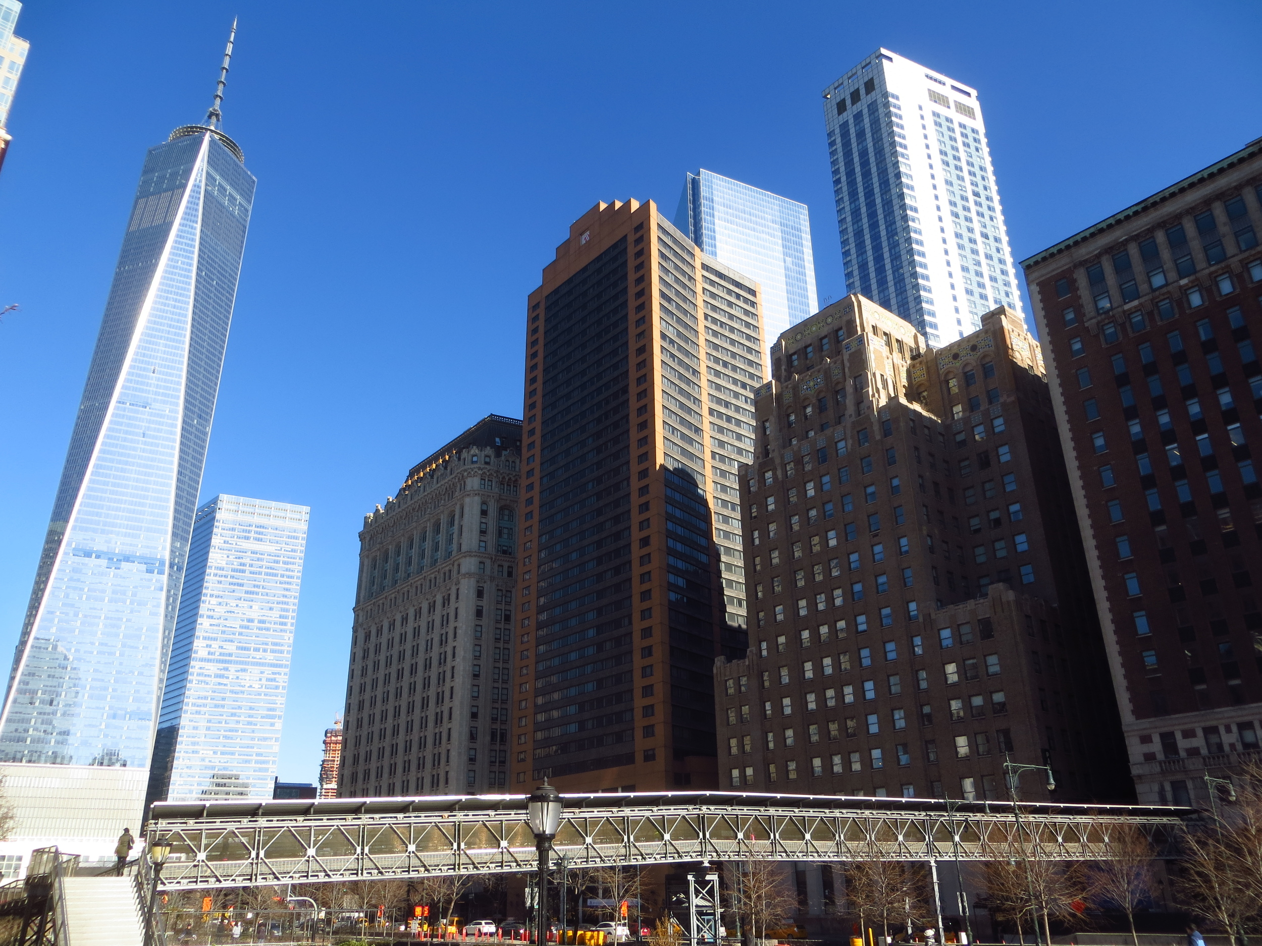 View of WTC up West St.