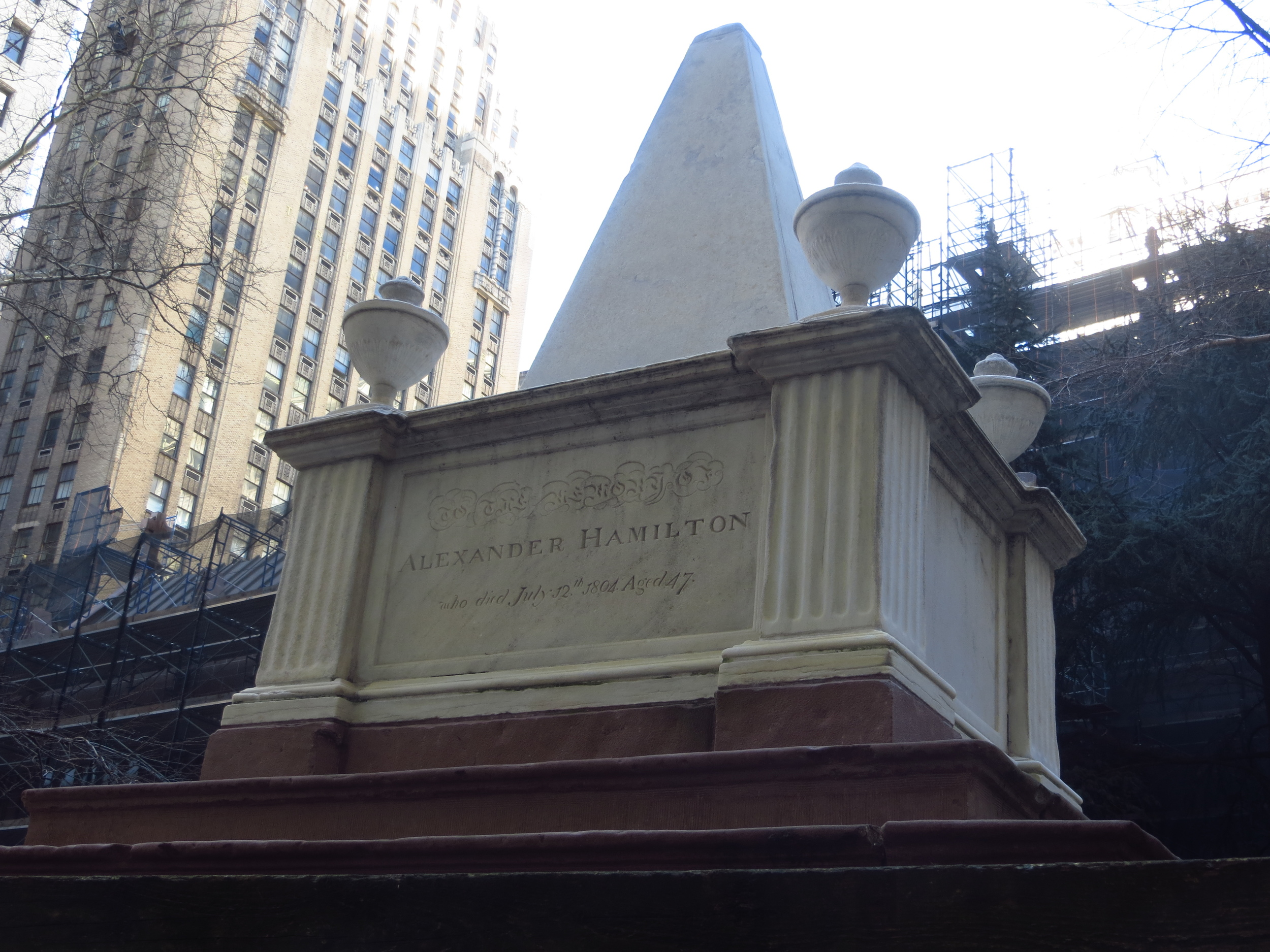 Tomb of Alexander Hamilton (1755-1804) in Trinity Churchyard