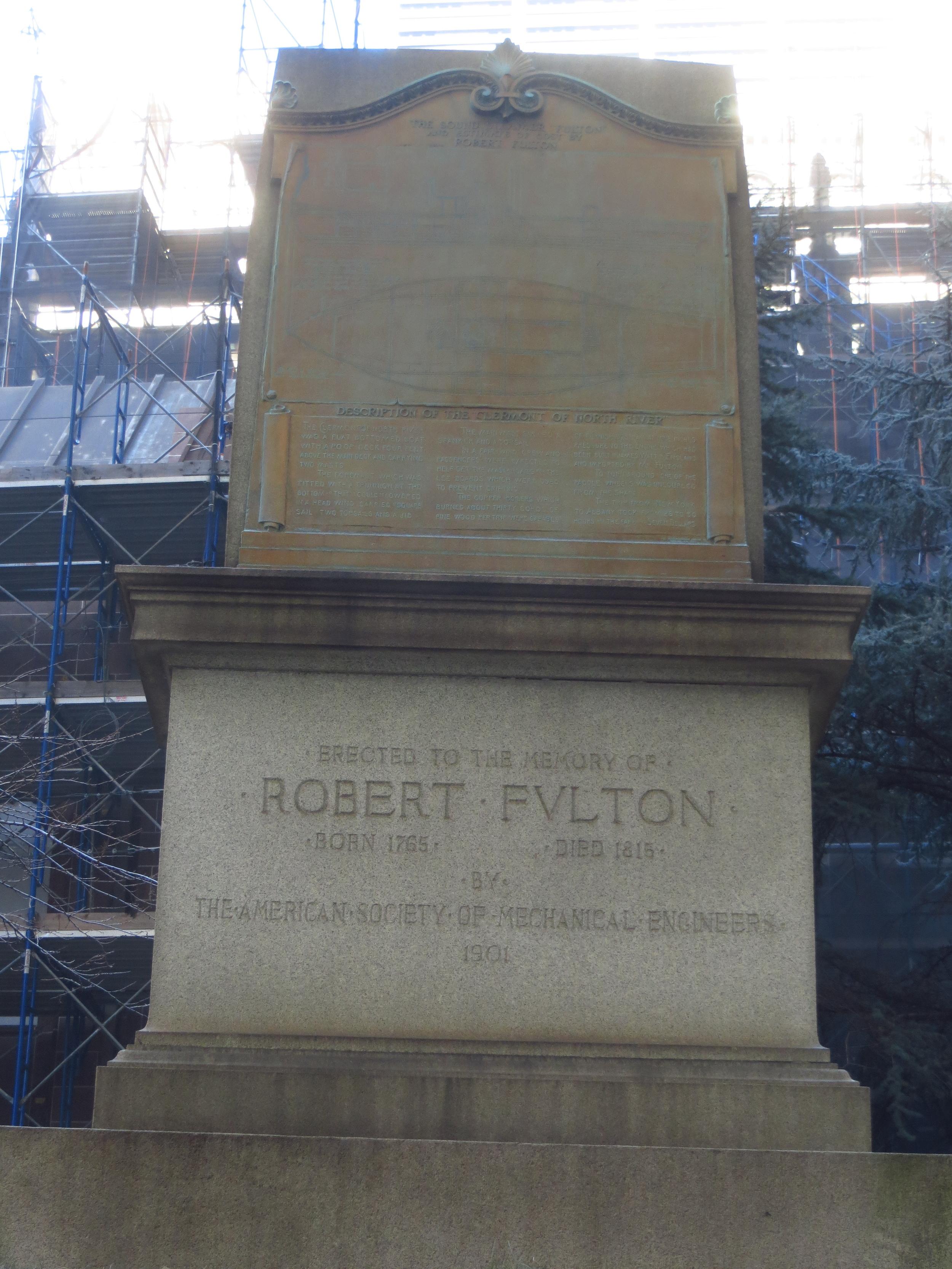 Grave of Robert Fulton (1765-1815) in Trinity Churchyard