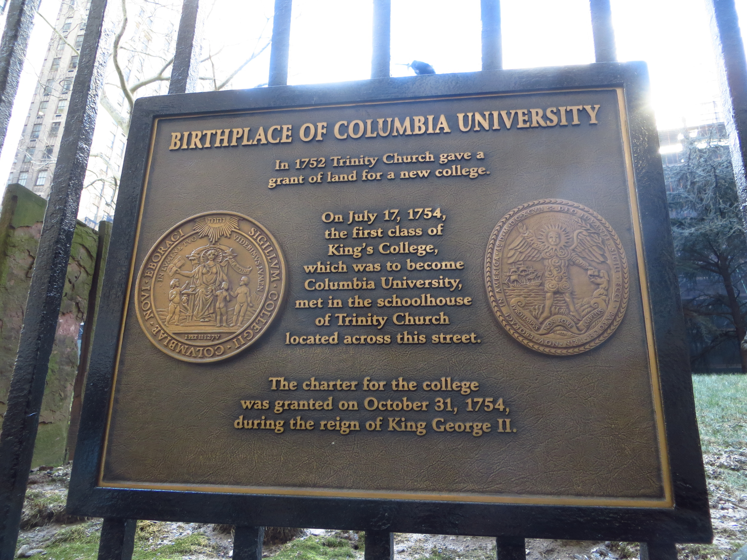 Birthplace of Columbia University