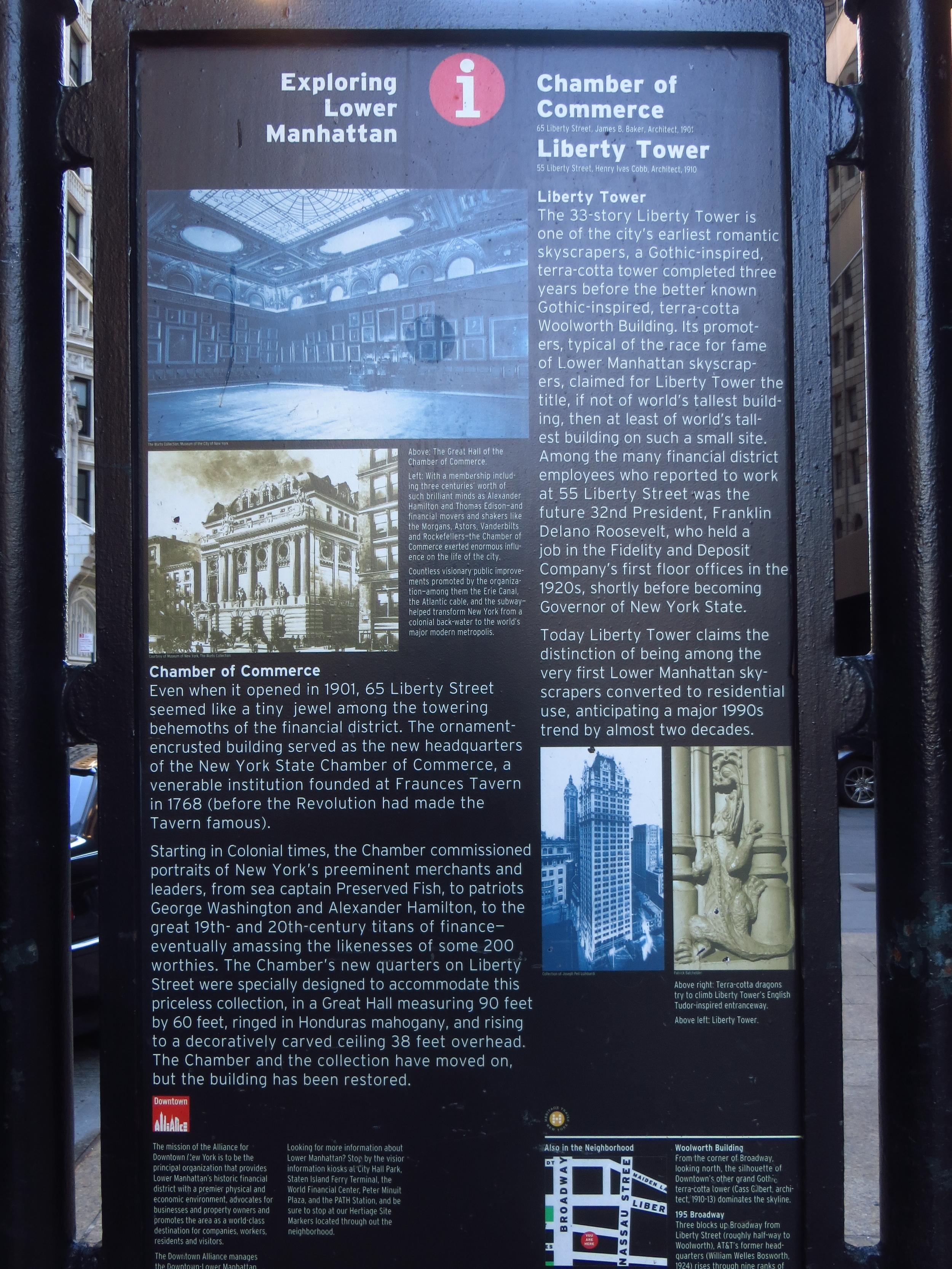 Lower Manhattan interpretive sign
