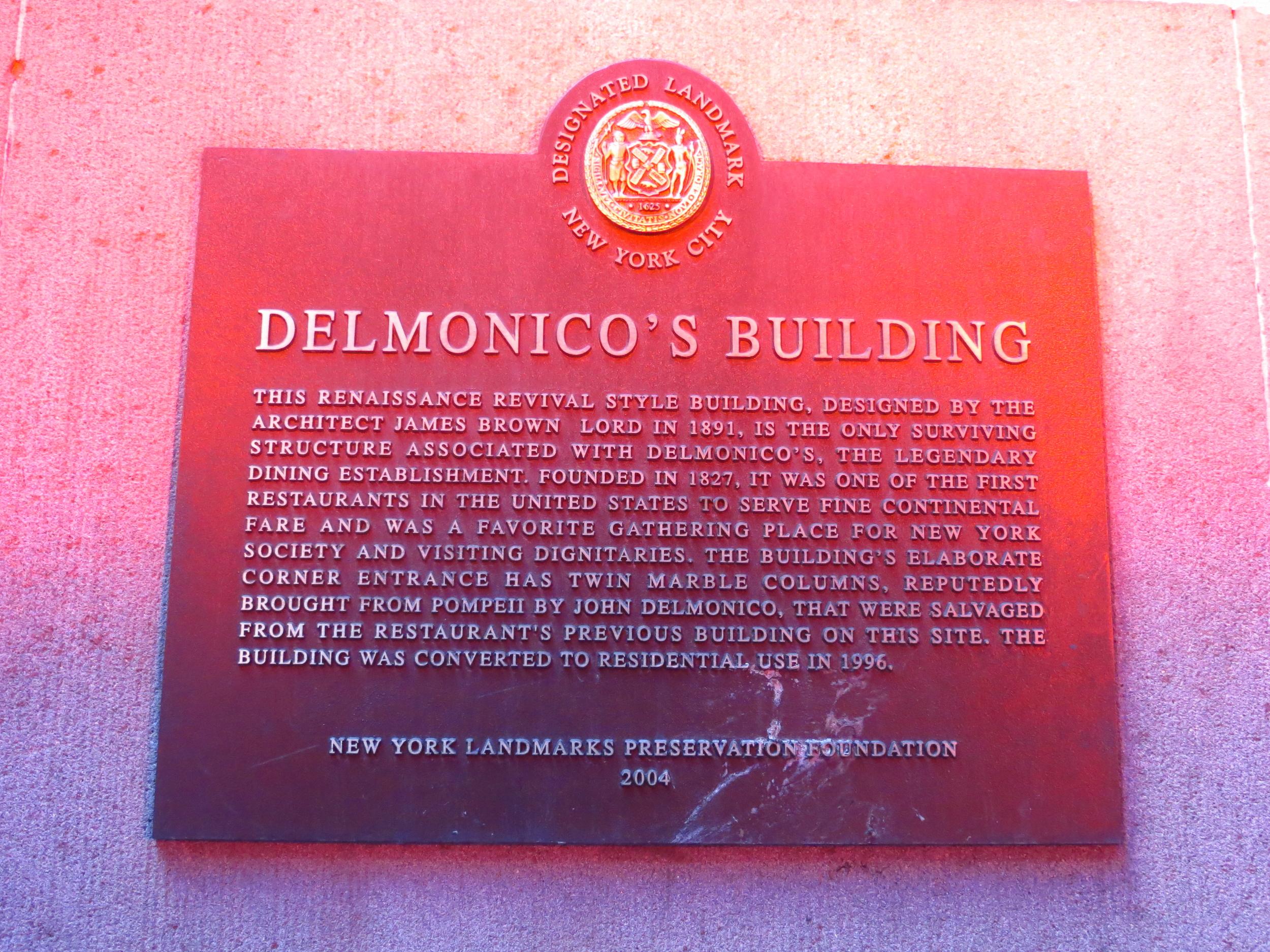 Delmonico's History