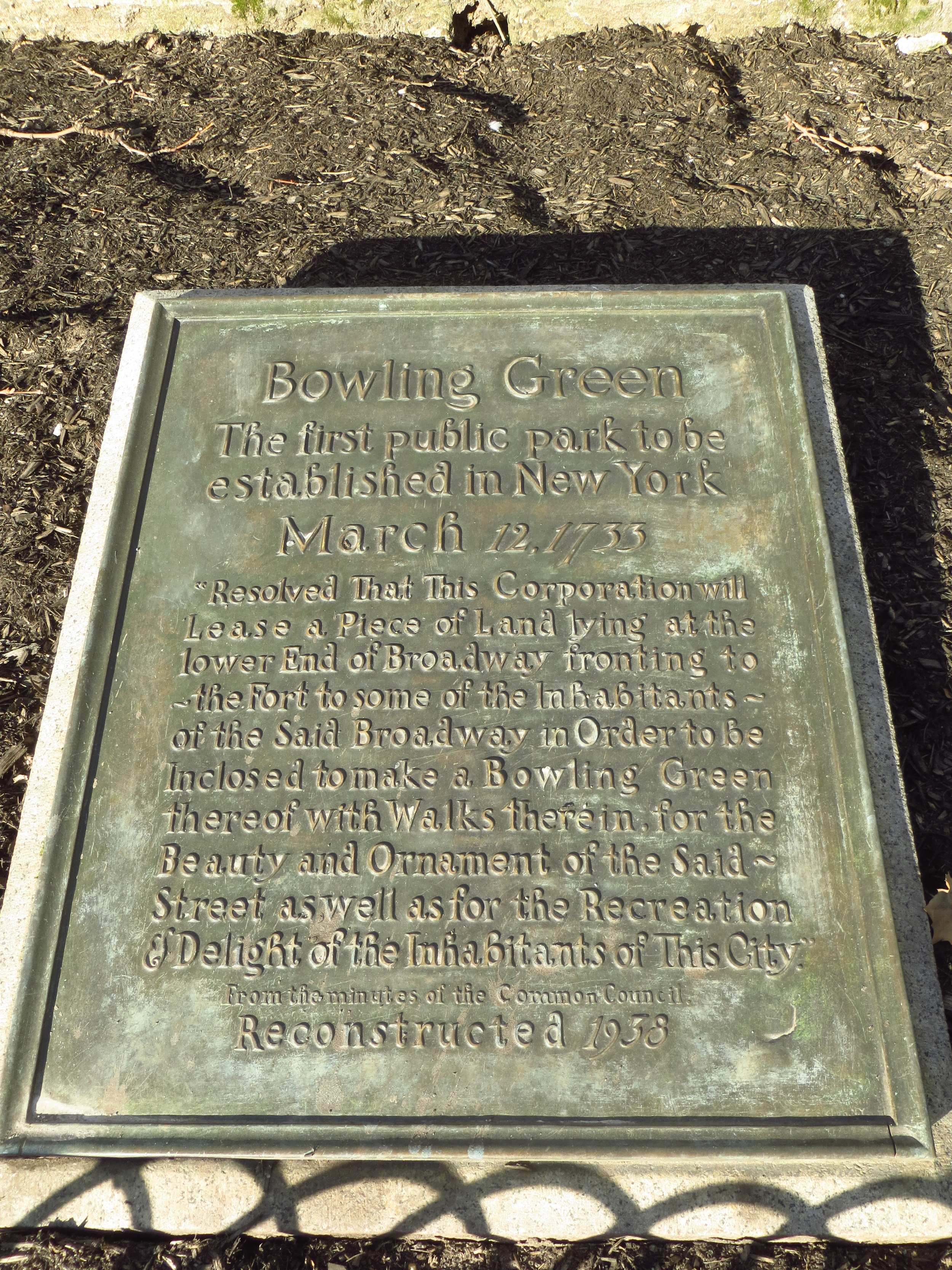 Bowling Green Non-Fence History