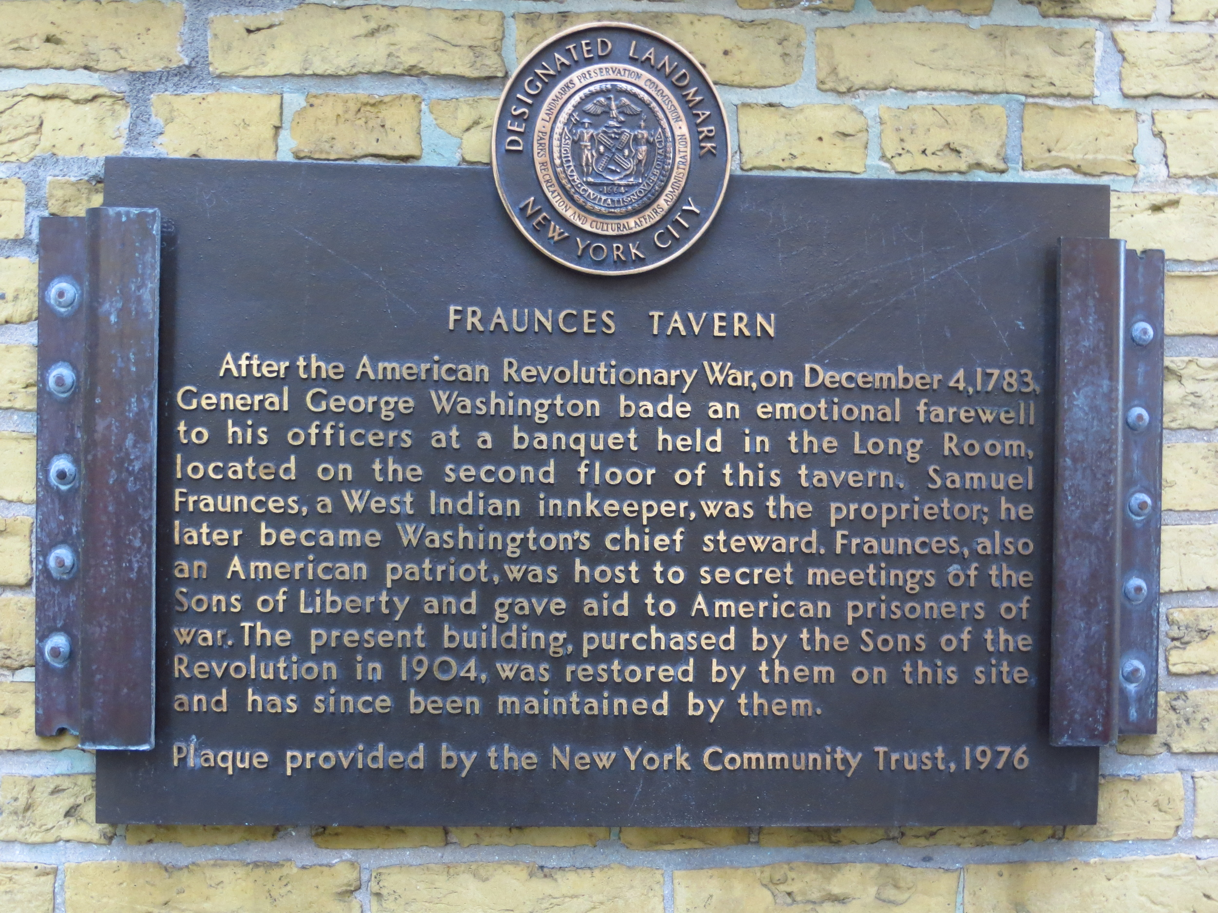Fraunces Tavern history