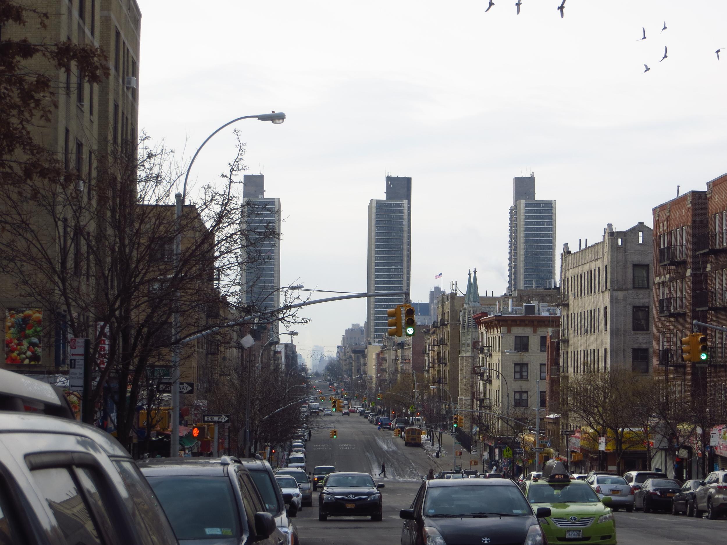 View down St. Nicholas Ave