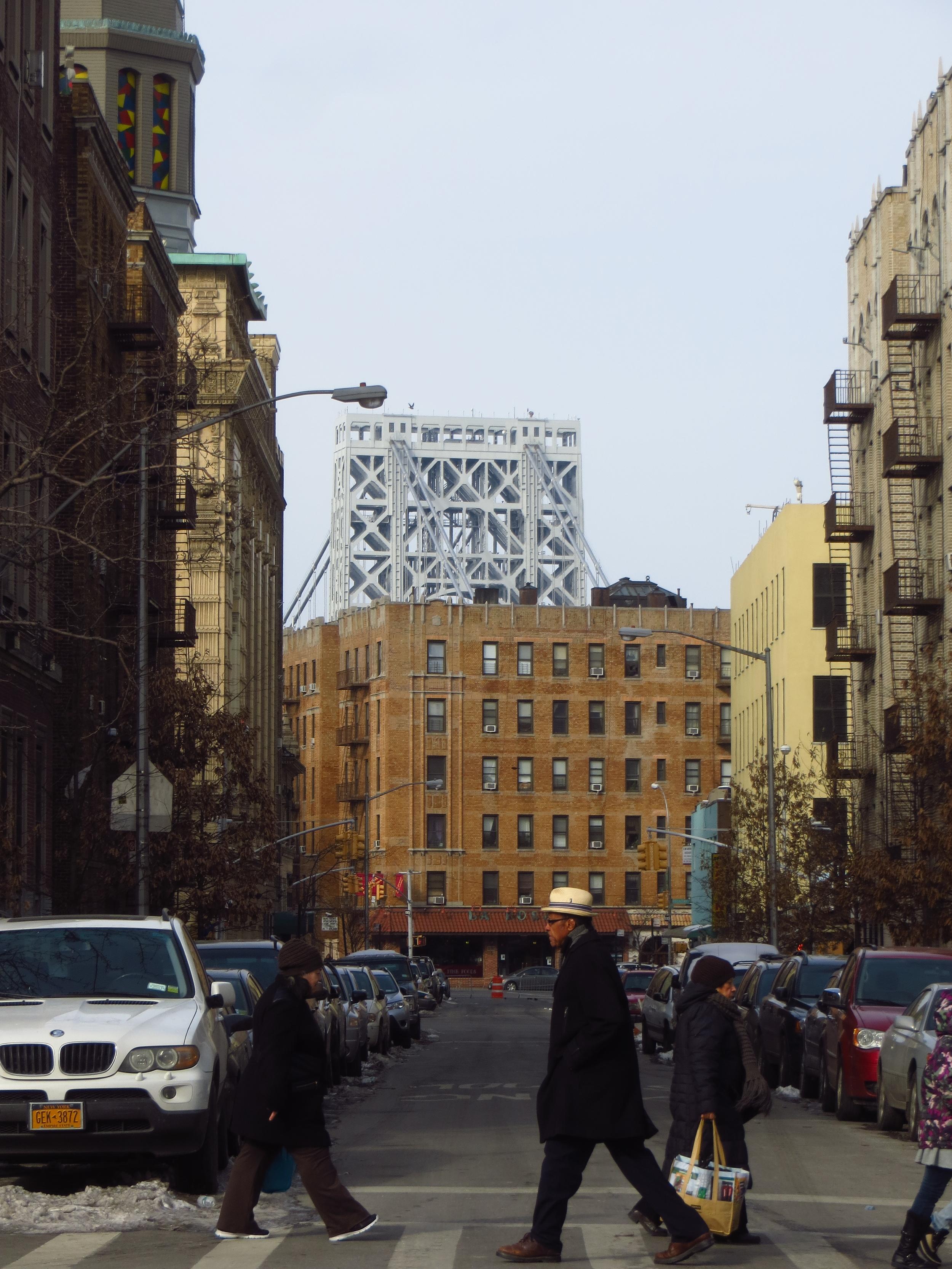 GW Bridge and crosswalk
