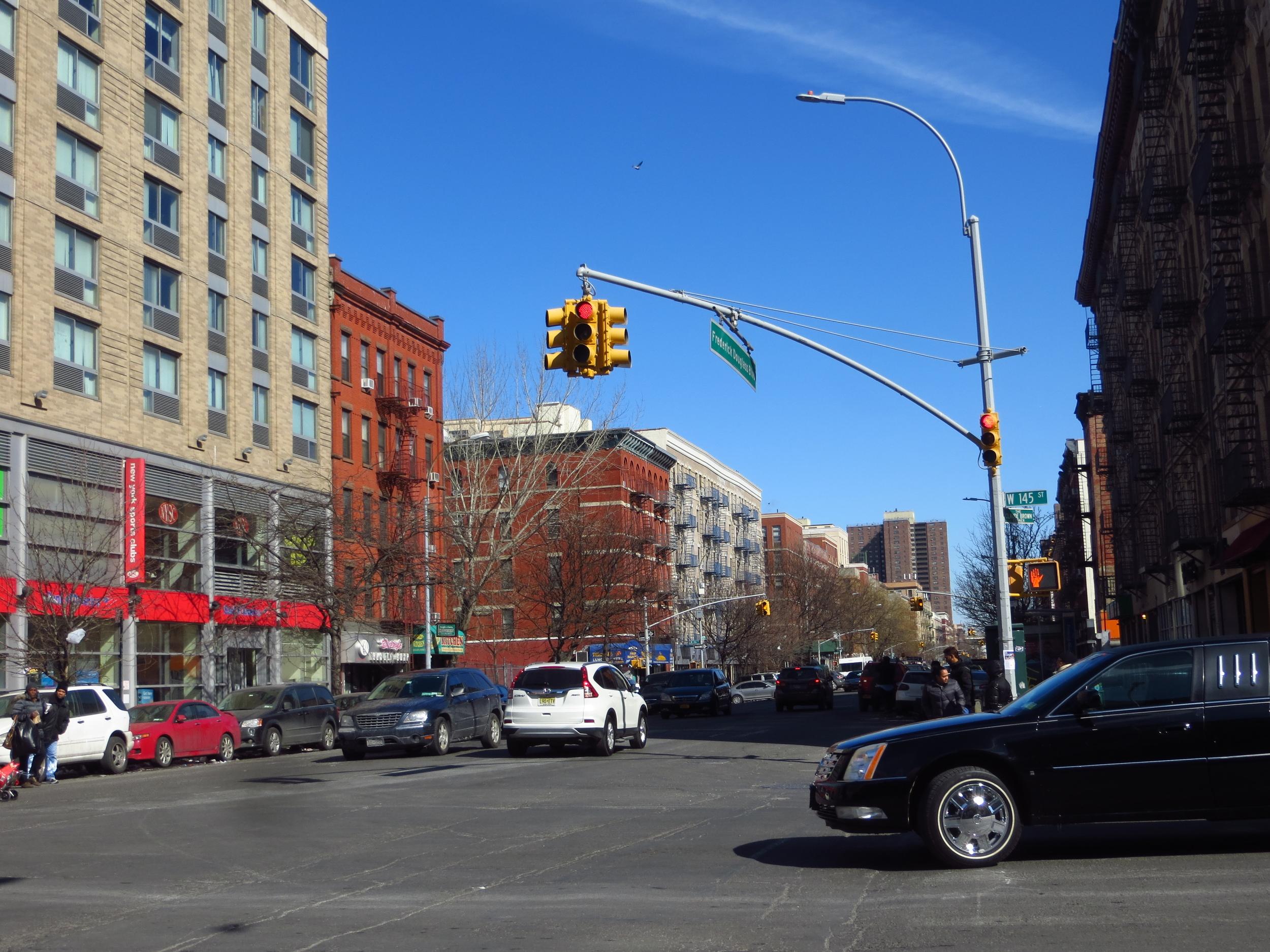 View north on Frederick Douglass Blvd.