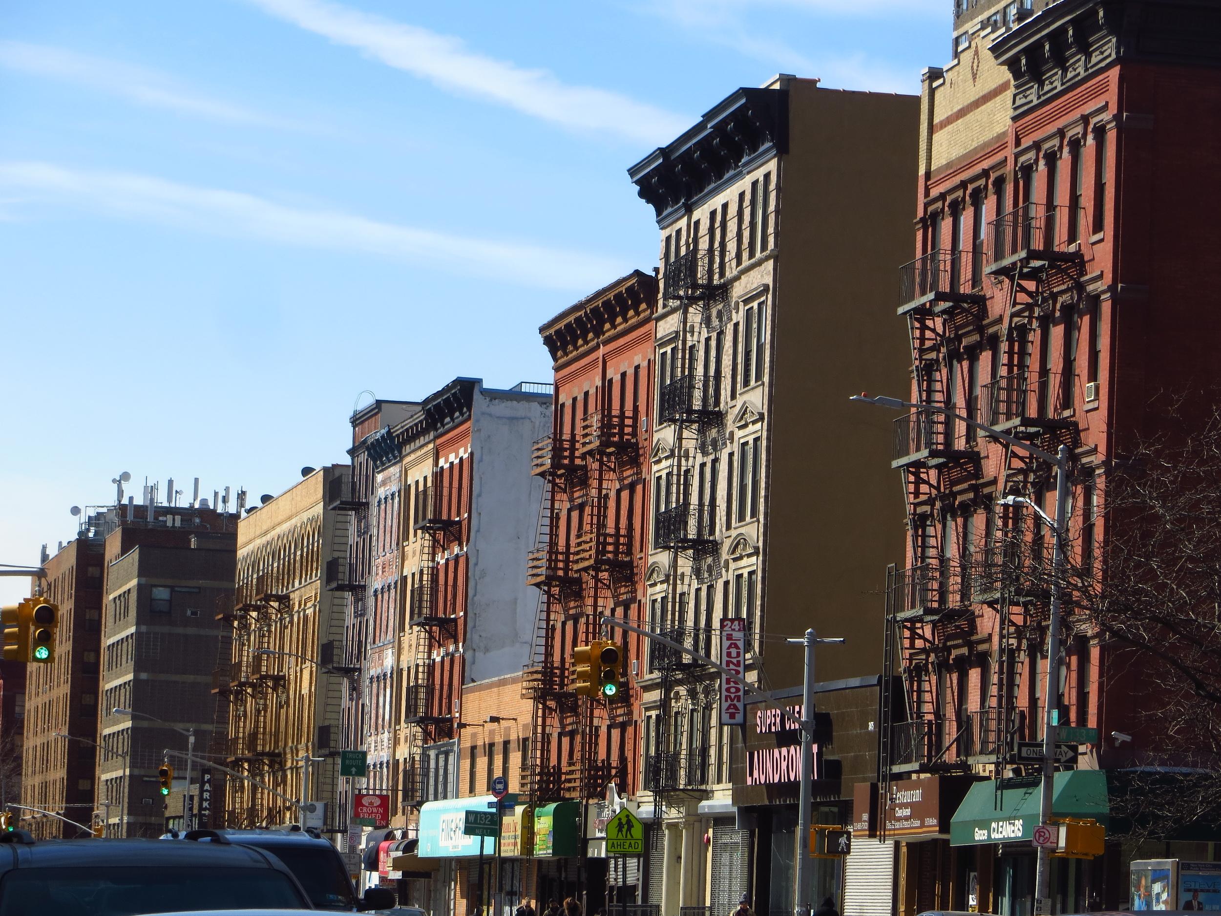 View down Frederick Douglass Blvd.