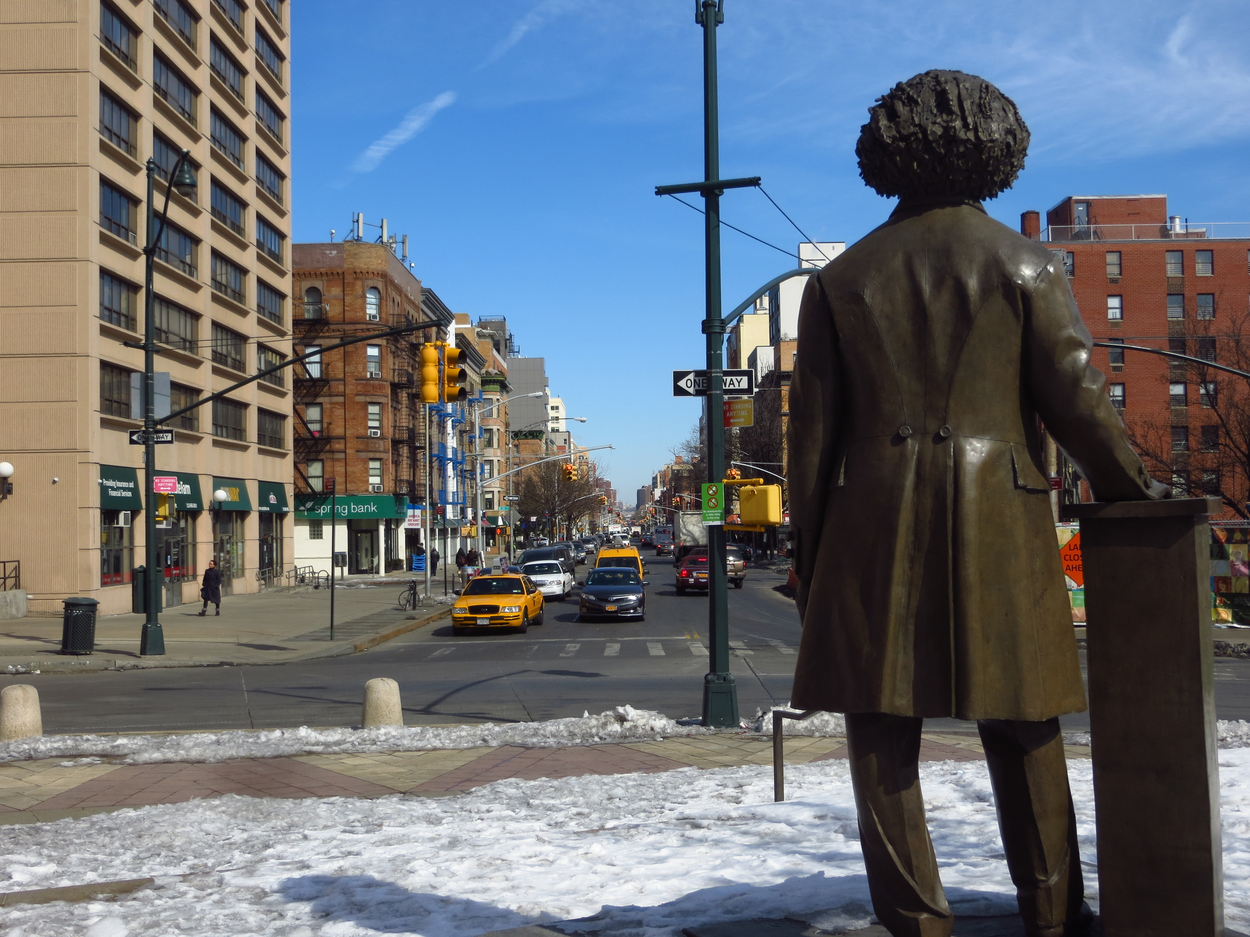 View of Frederick Douglass looking north on Frederick Douglass Blvd.