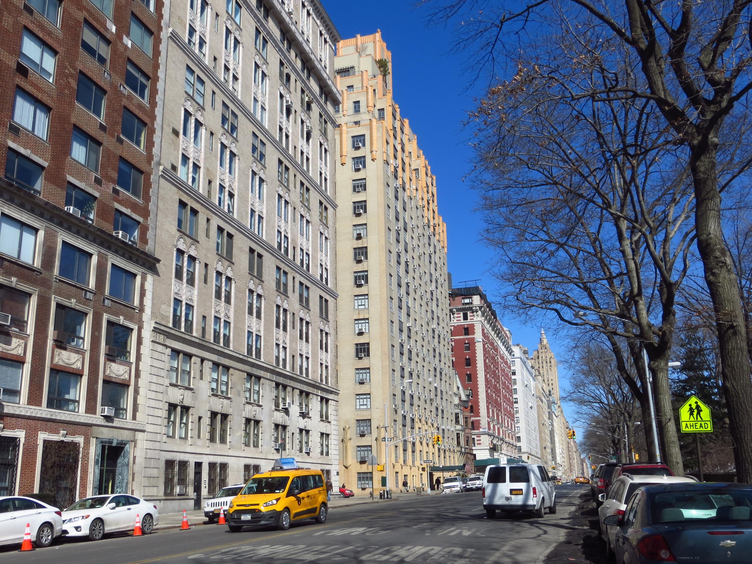 View up Central Park West