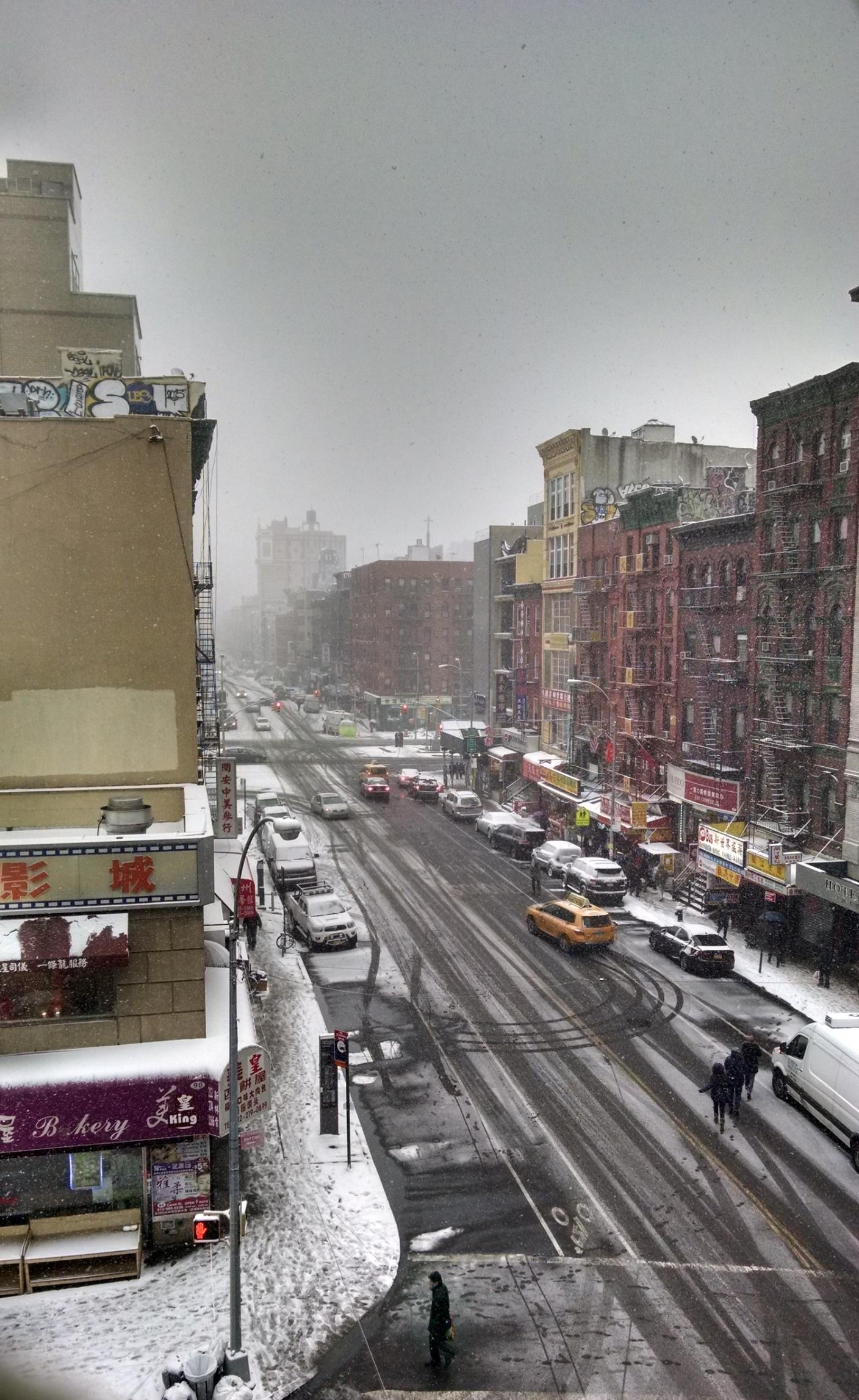 Chinatown in Winter