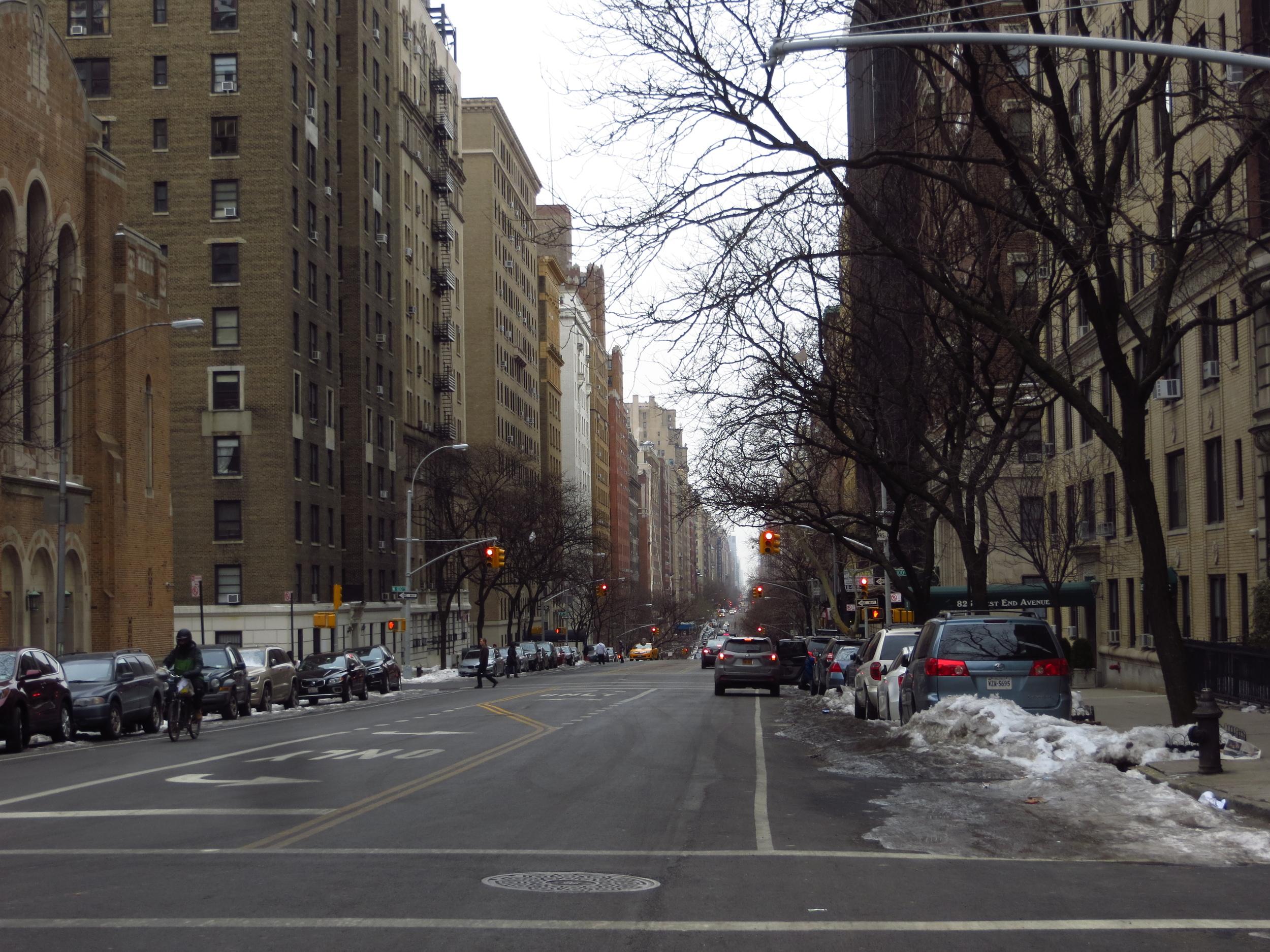 View down West End Avenue