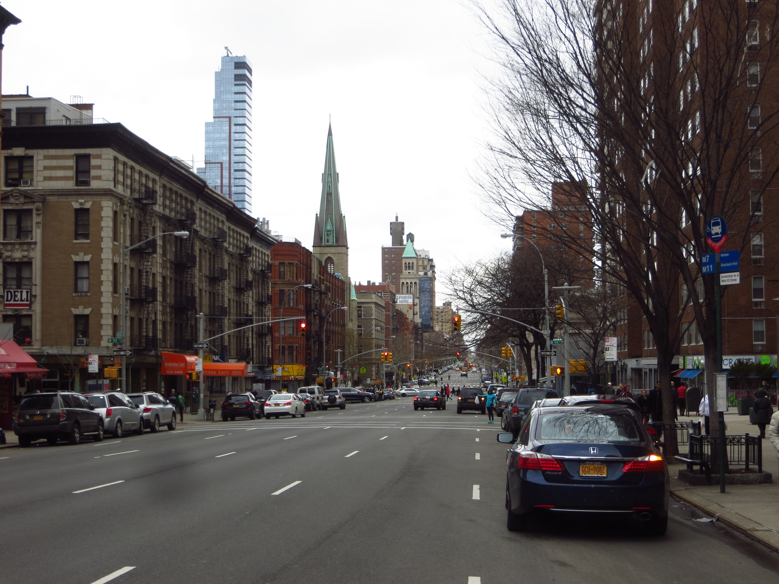 View up Amsterdam Ave.