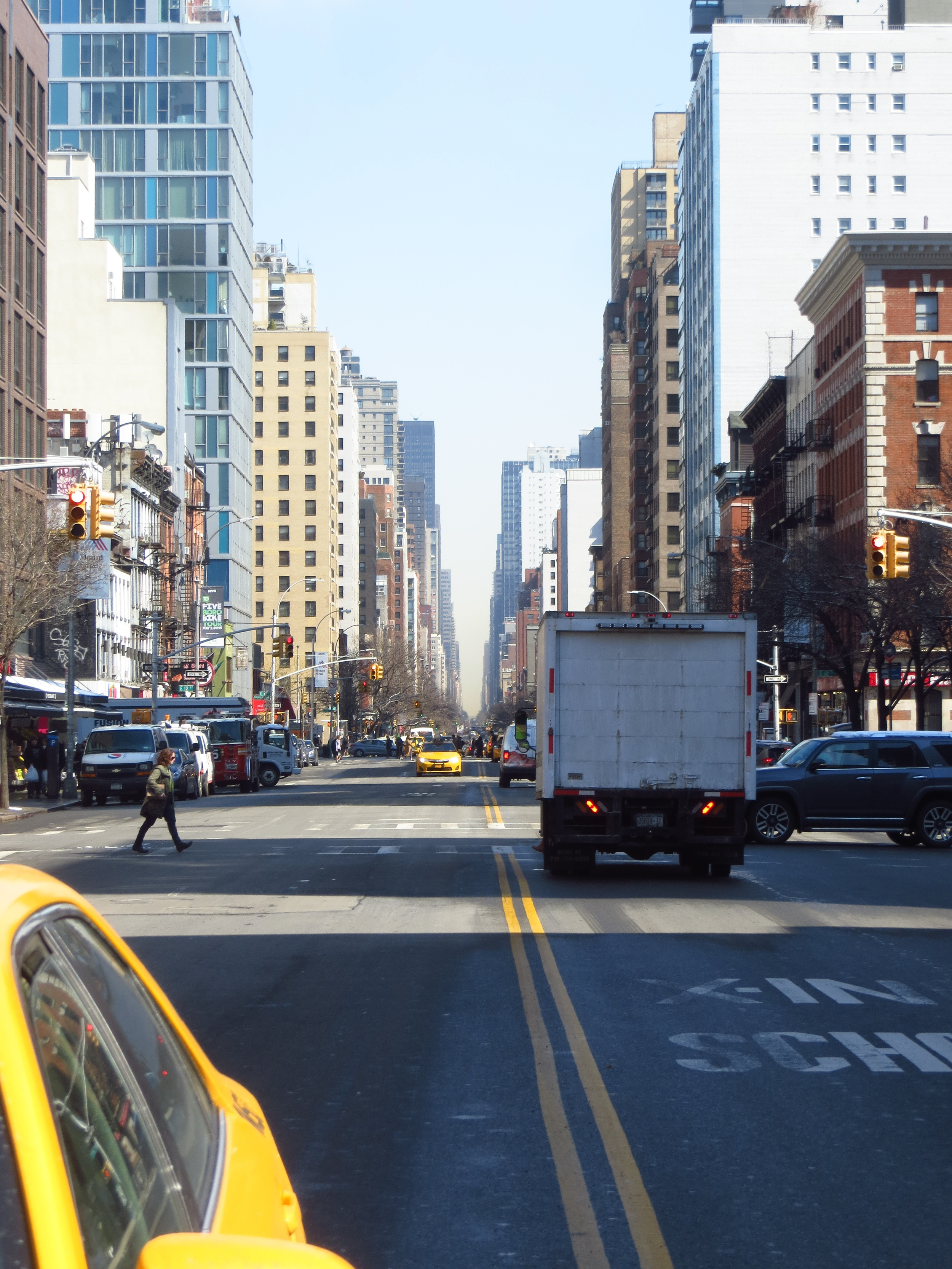 View up 3rd Avenue