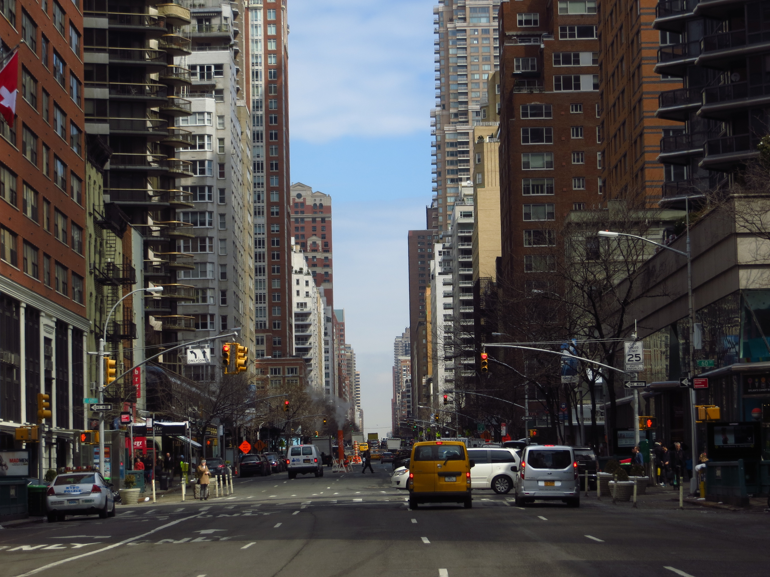 View up 3rd Ave.