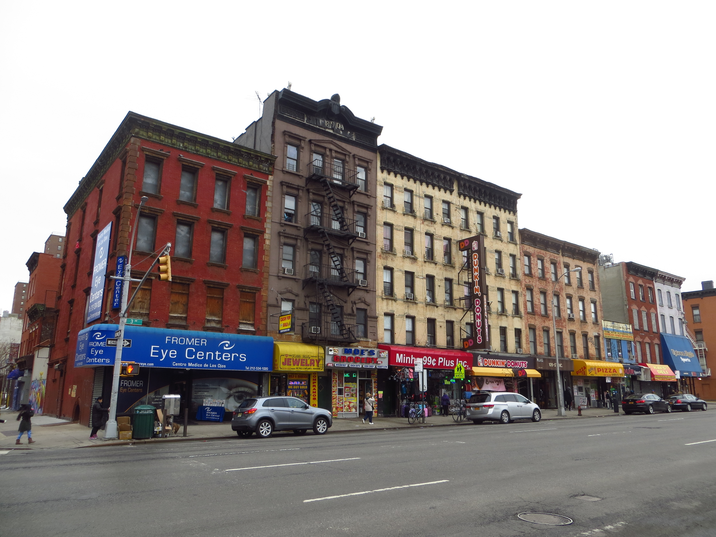 3rd Ave. in East Harlem